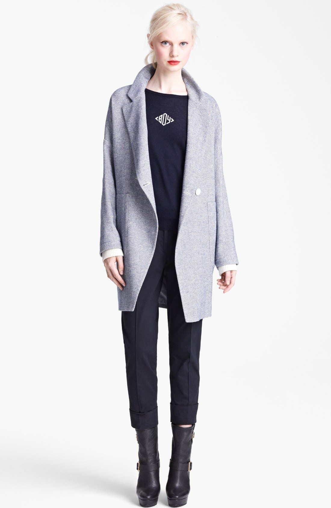 Alternate Image 1 Selected - Band of Outsiders Herringbone Wool Coat