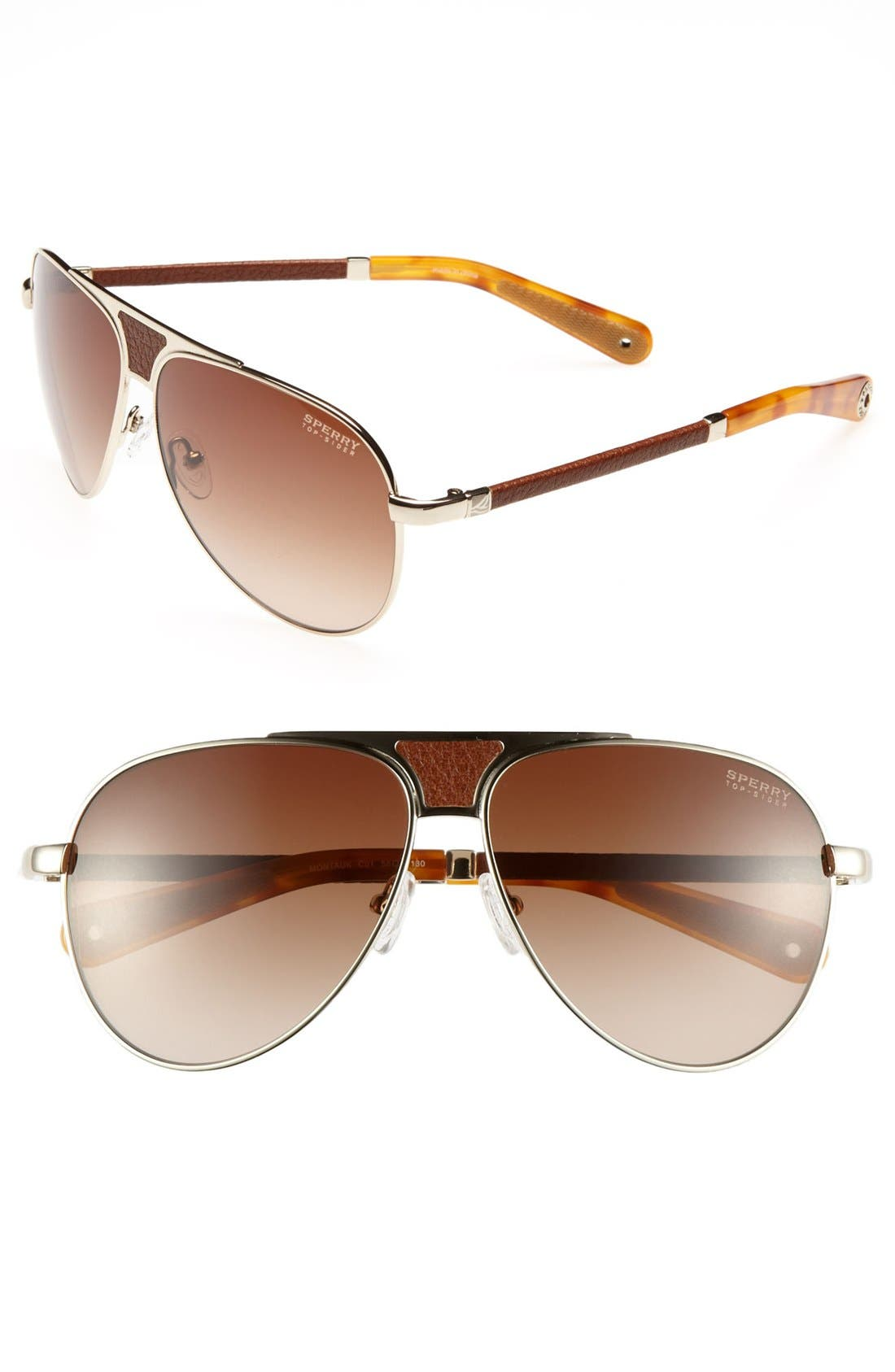 Main Image - Sperry Top-Sider® 'Montauk' 58mm Aviator Sunglasses (Online Only)