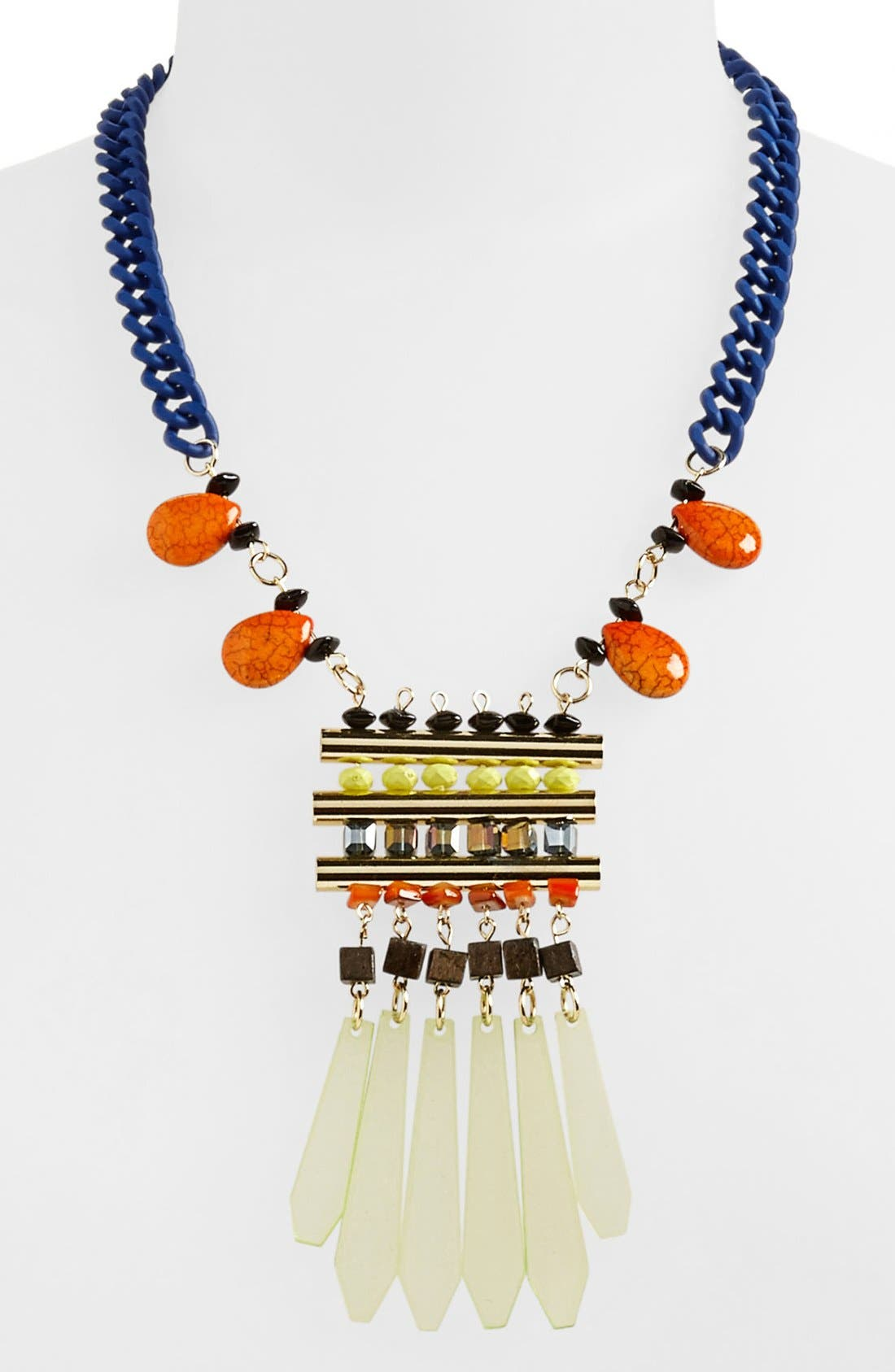 Alternate Image 1 Selected - Topshop 'Shard Bead' Statement Necklace