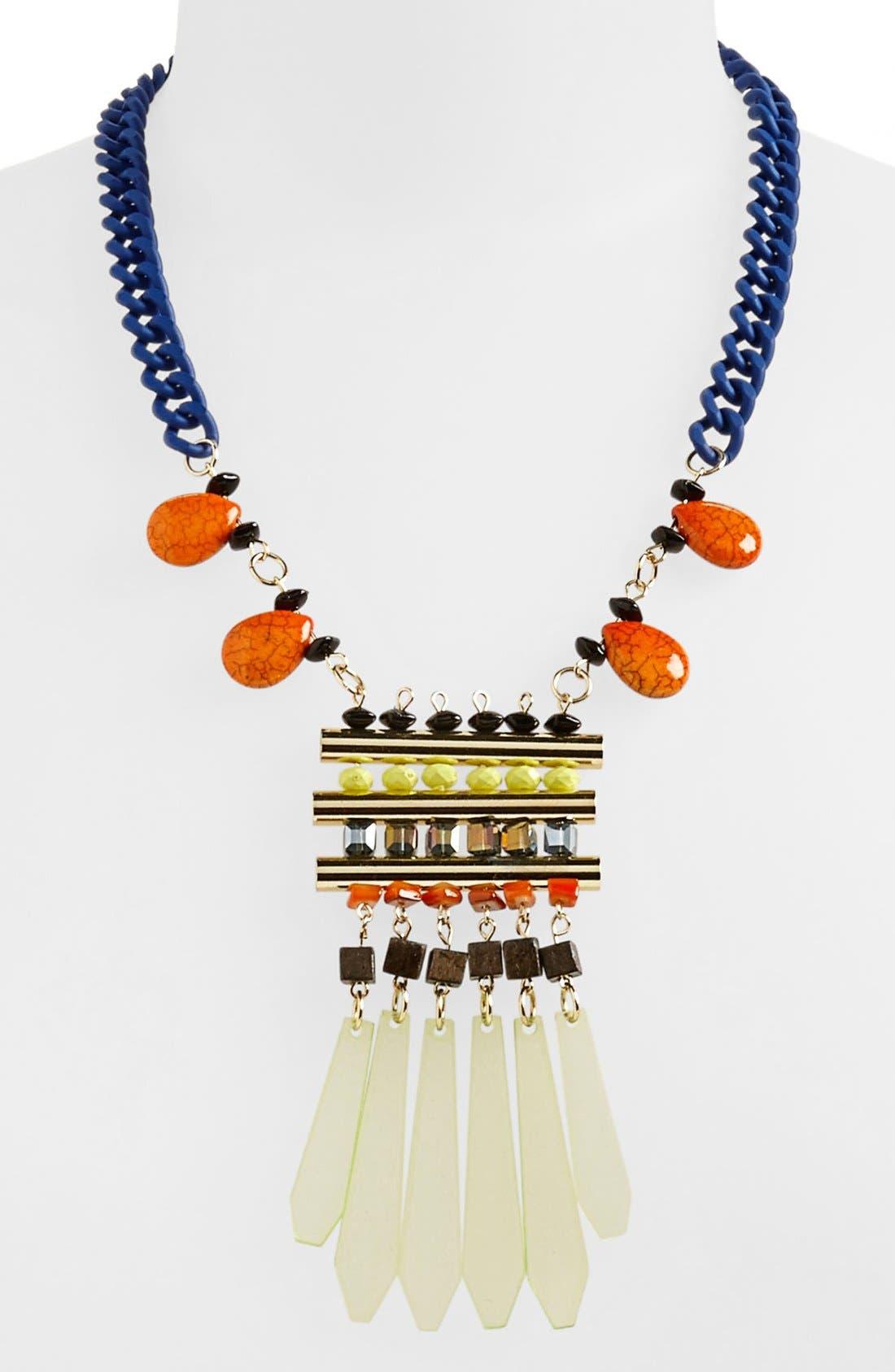 Main Image - Topshop 'Shard Bead' Statement Necklace