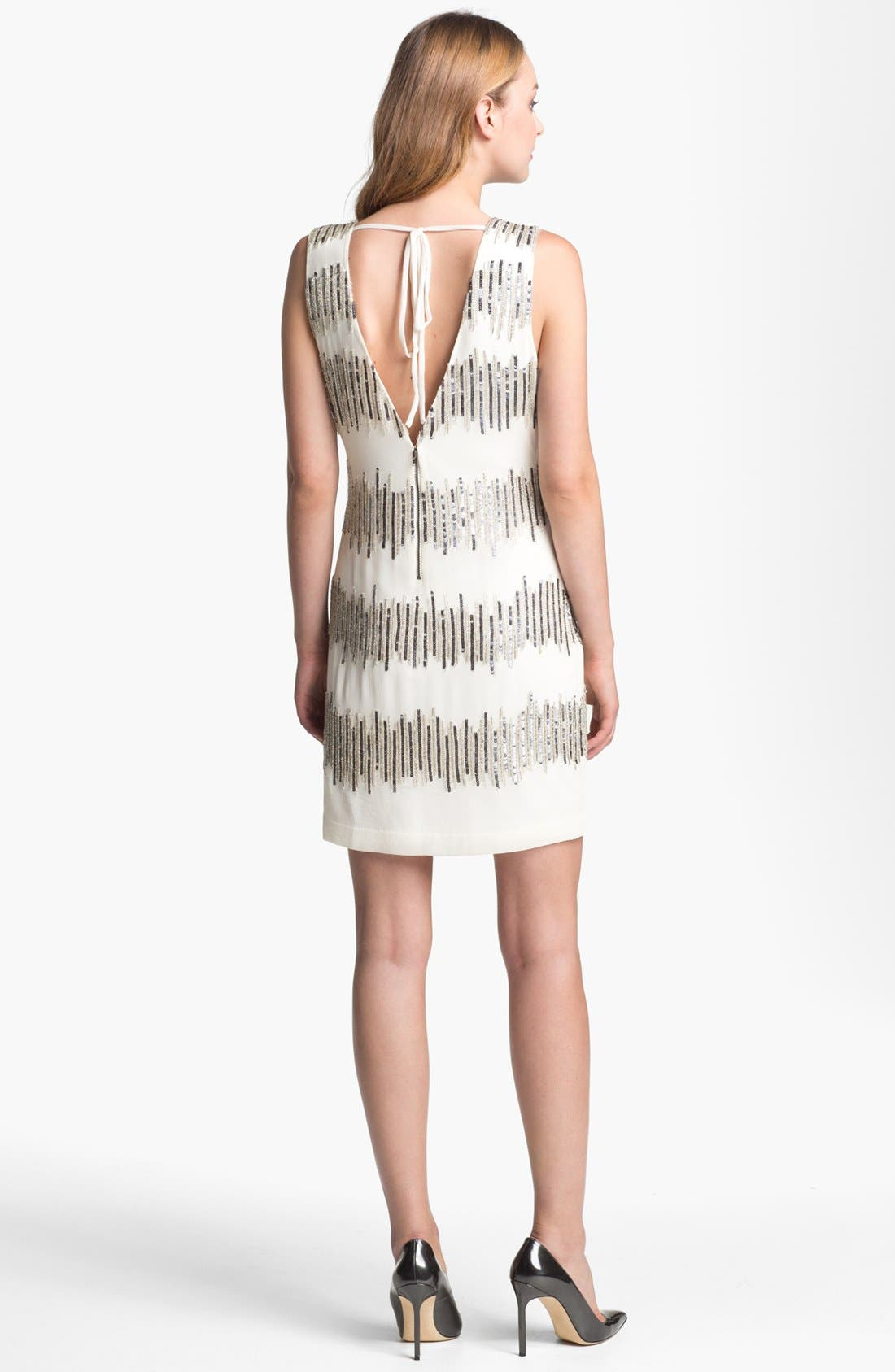 Alternate Image 2  - Adrianna Papell Embellished Sleeveless Shift Dress
