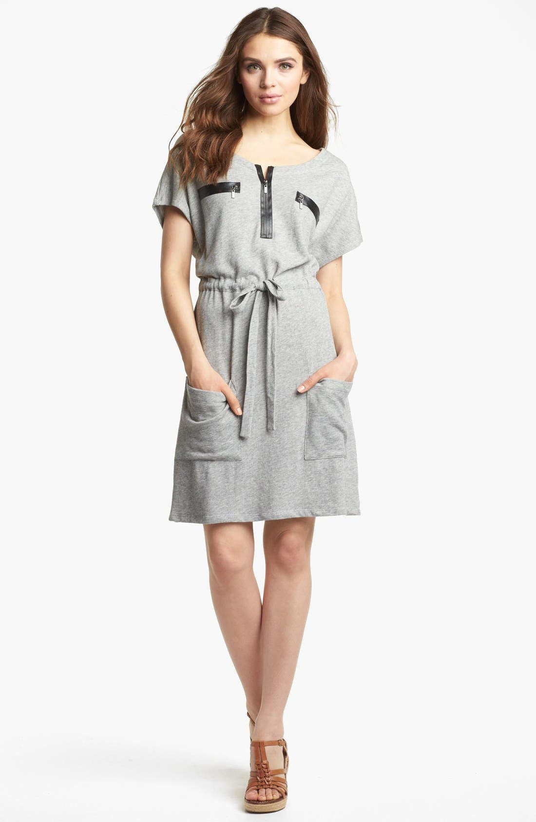 Main Image - Kensie Drawstring French Terry Dress