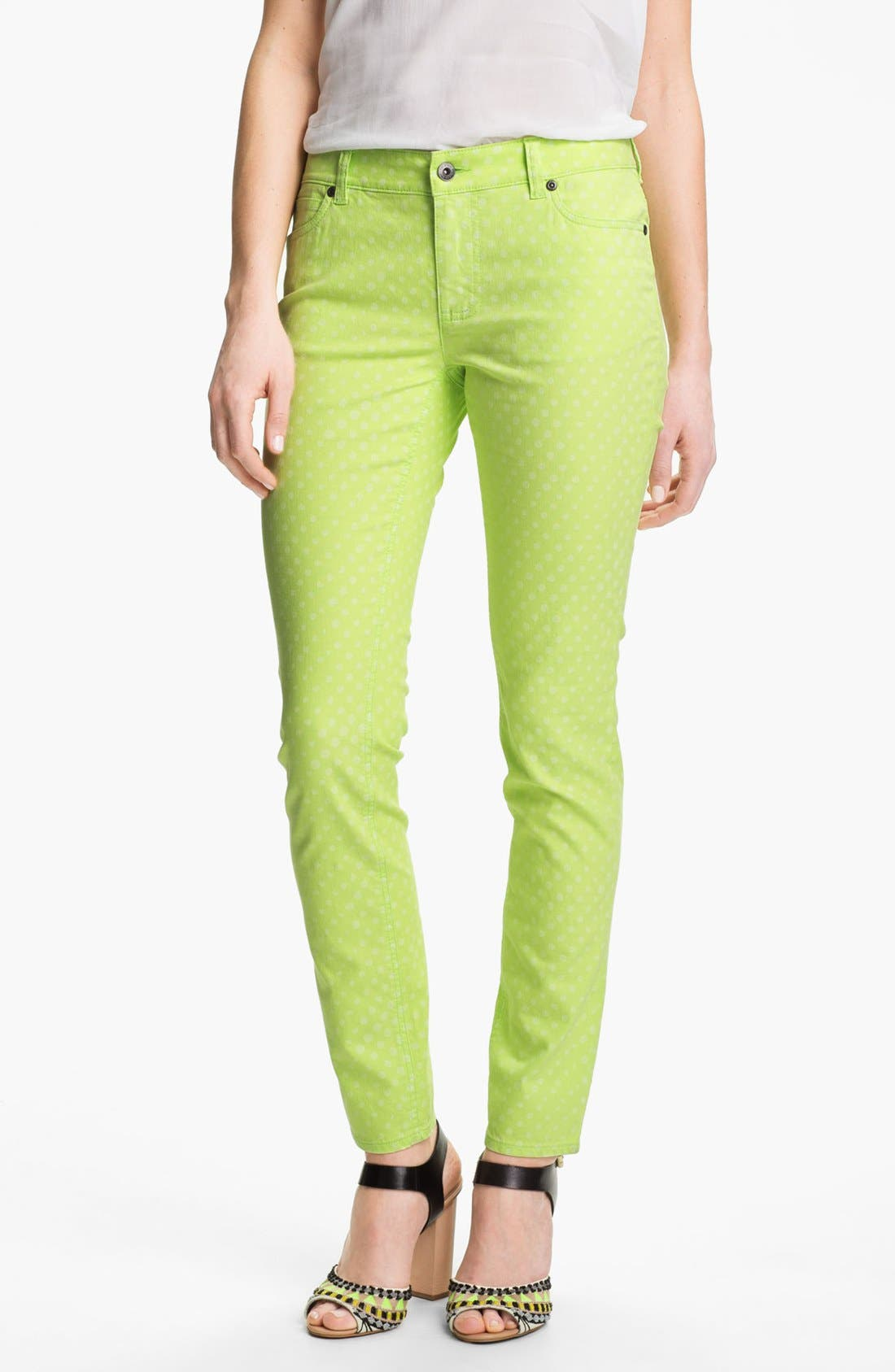 Alternate Image 1 Selected - Two by Vince Camuto Polka Dot Straight Leg Jeans