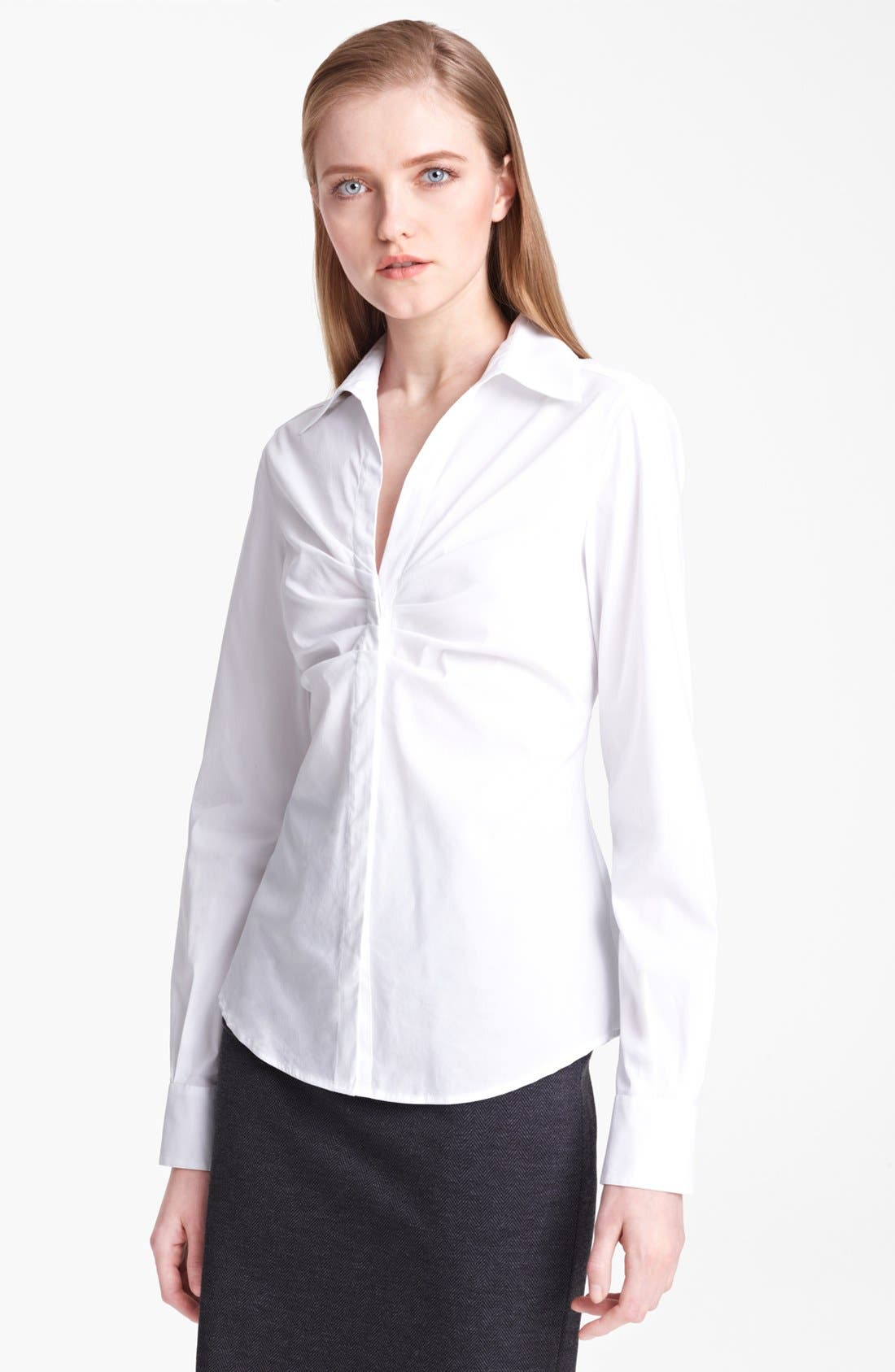 Main Image - Armani Collezioni Ruched Front Blouse
