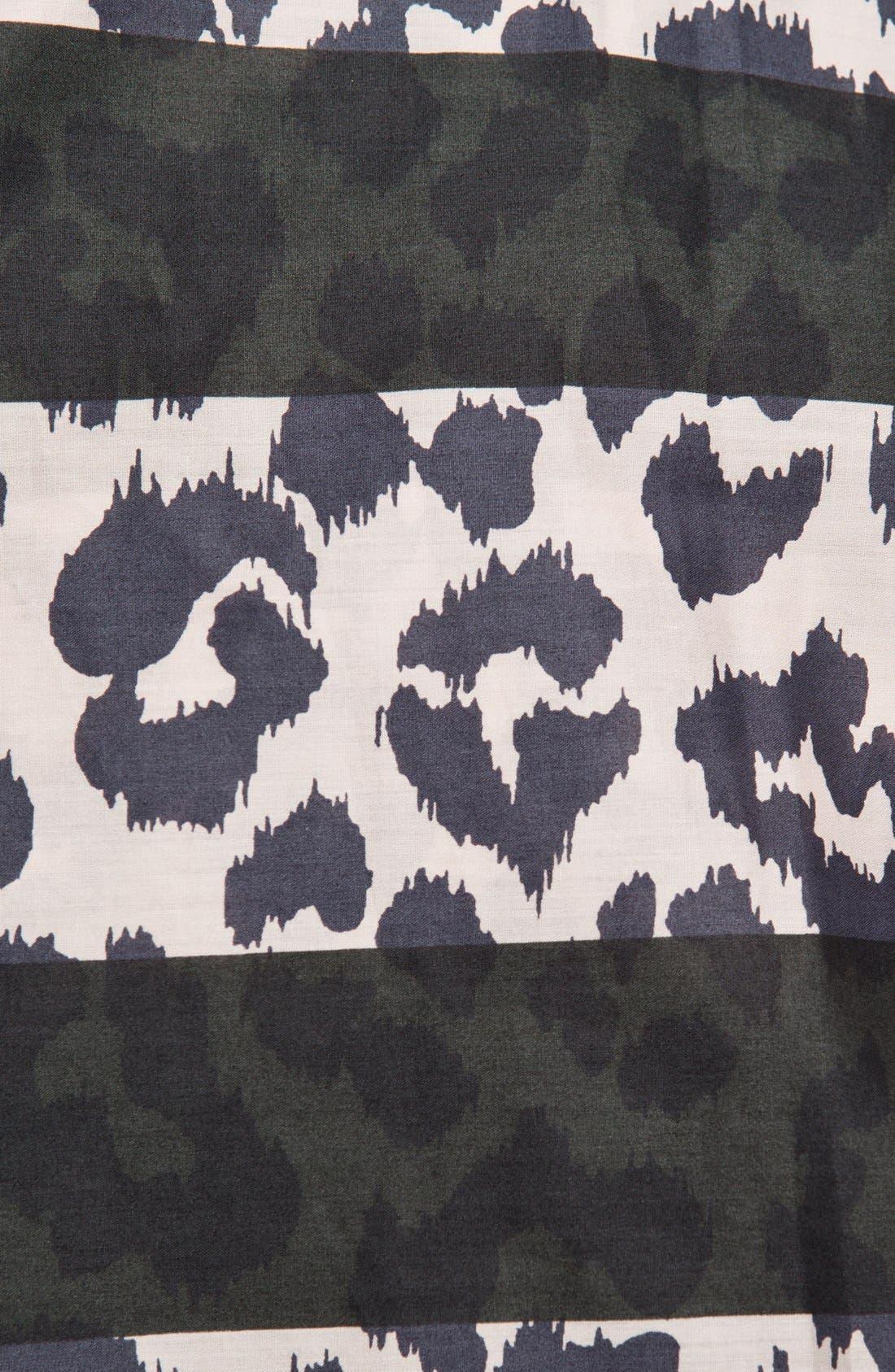 Alternate Image 2  - MARC BY MARC JACOBS Stripe Cheetah Print Woven Shirt