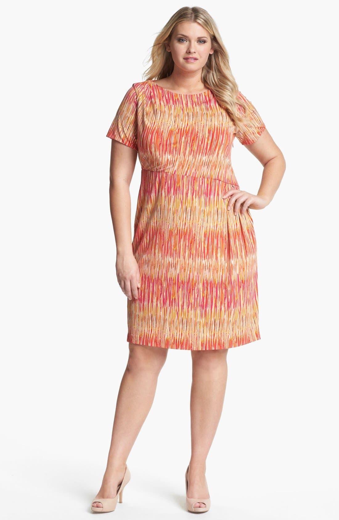 Alternate Image 1 Selected - Vince Camuto Print Sheath Dress (Plus Size)