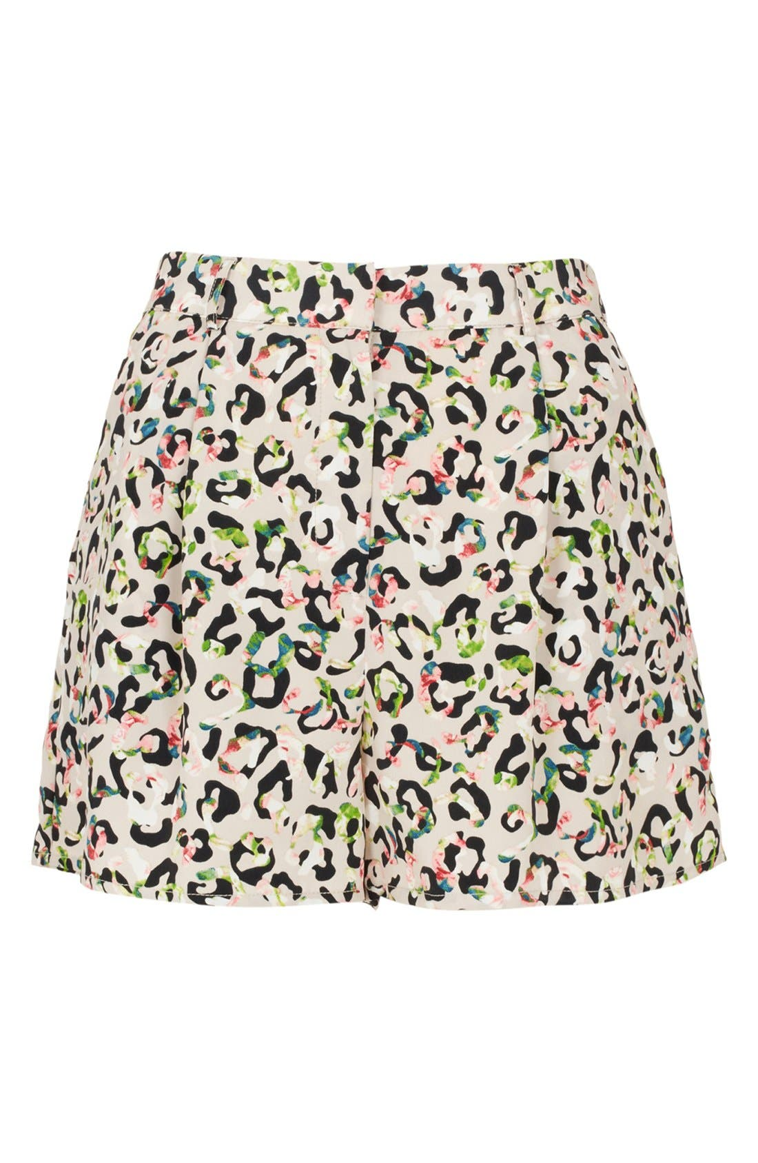 Main Image - Topshop Animal Print High Waist Shorts