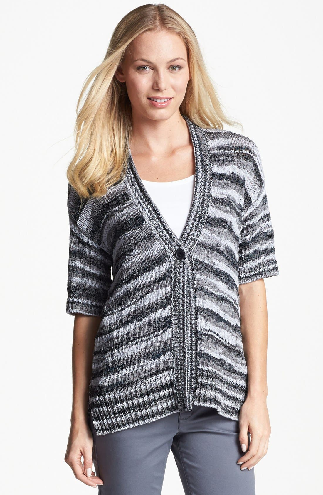 Alternate Image 1 Selected - Amber Sun One Button Space Dye Cardigan