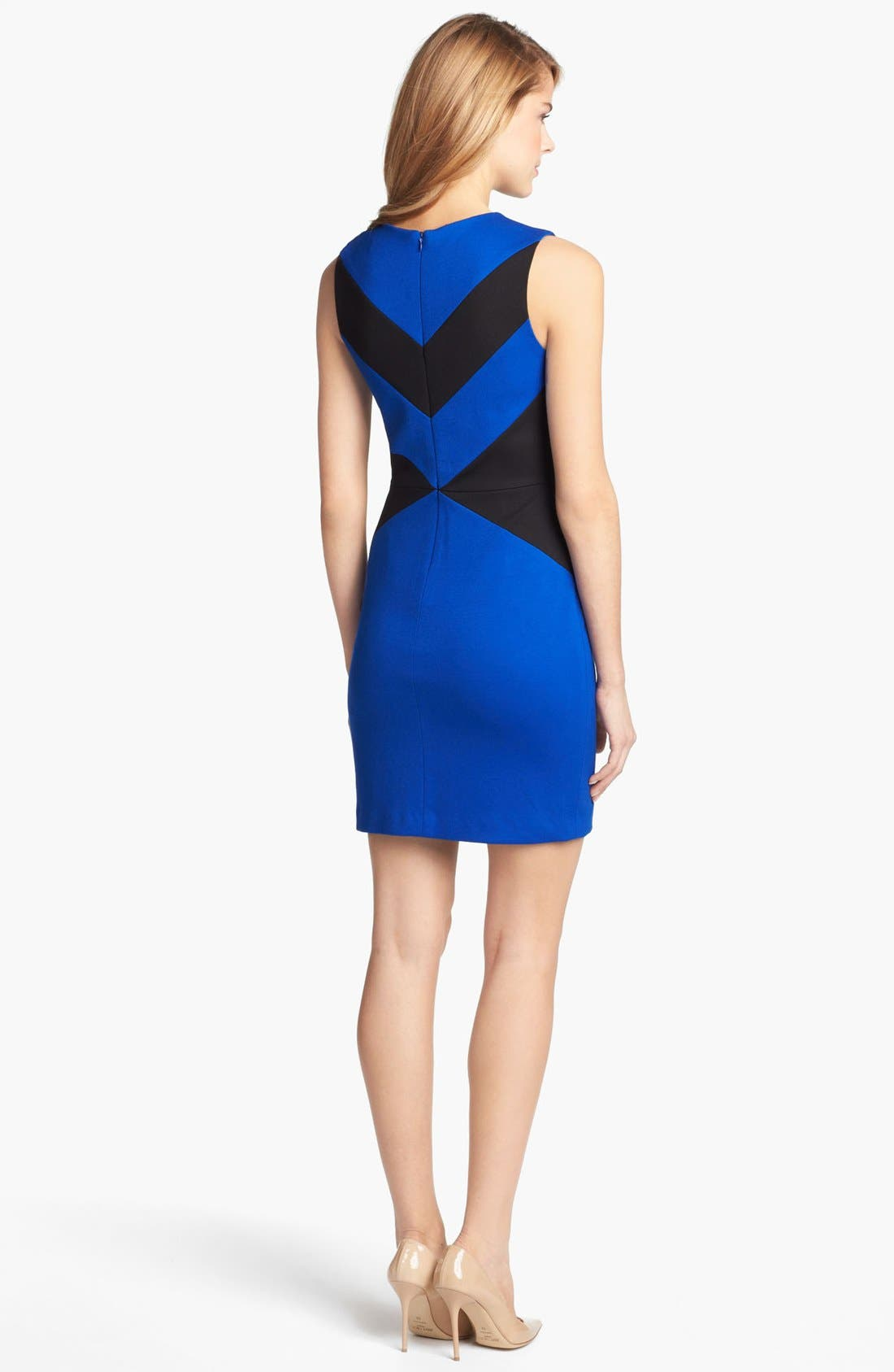 Alternate Image 2  - Cynthia Steffe 'Elizabeth' Sleeveless Colorblock Sheath Dress