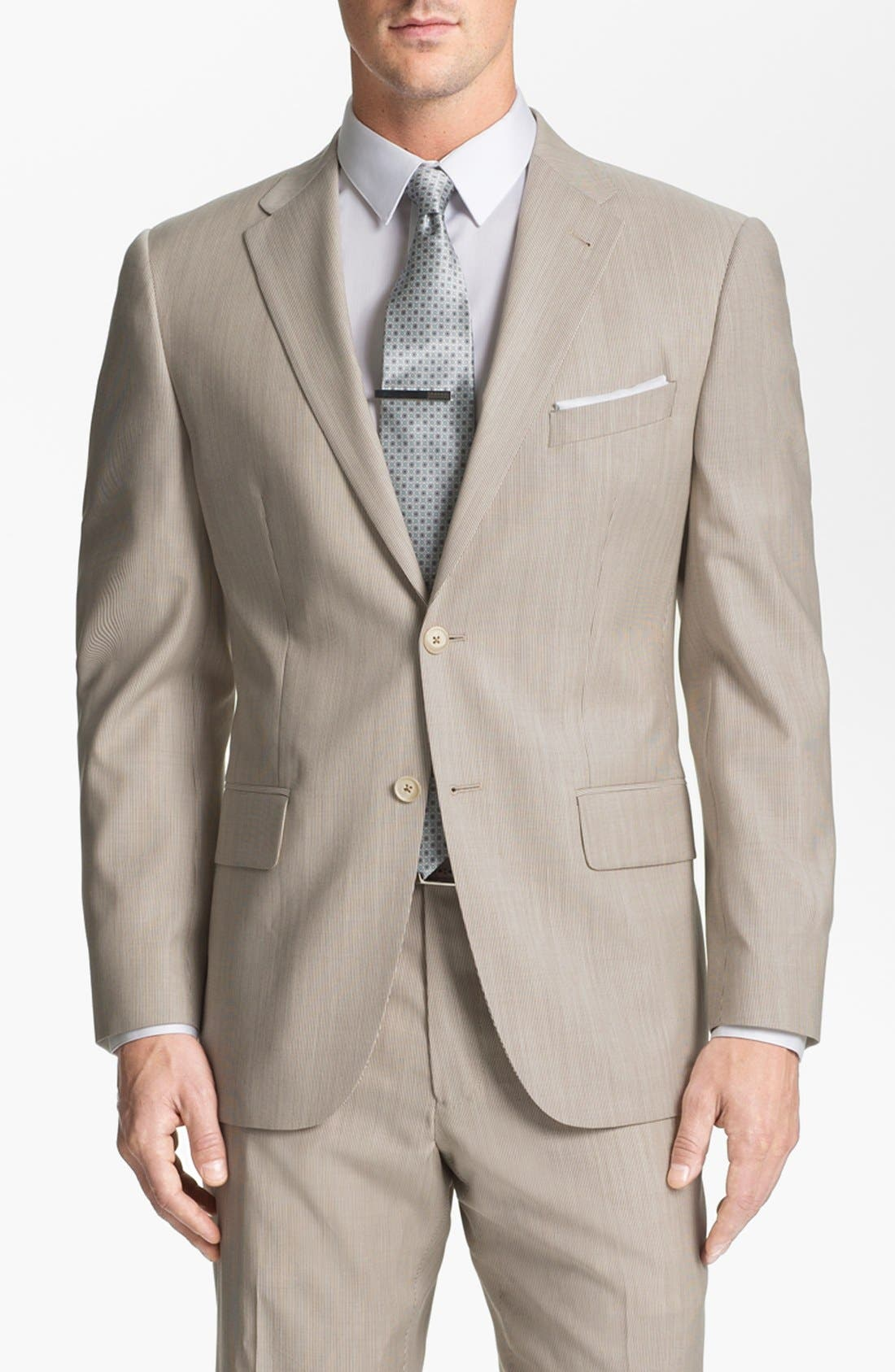 Alternate Image 4  - Joseph Abboud Trim Fit Stripe Wool Suit