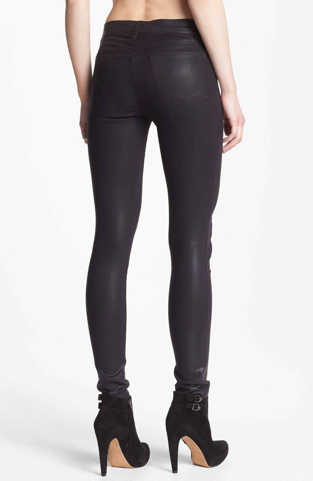 Alternate Image 2  - J Brand Coated Super Skinny Jeans (Coated Opalite)