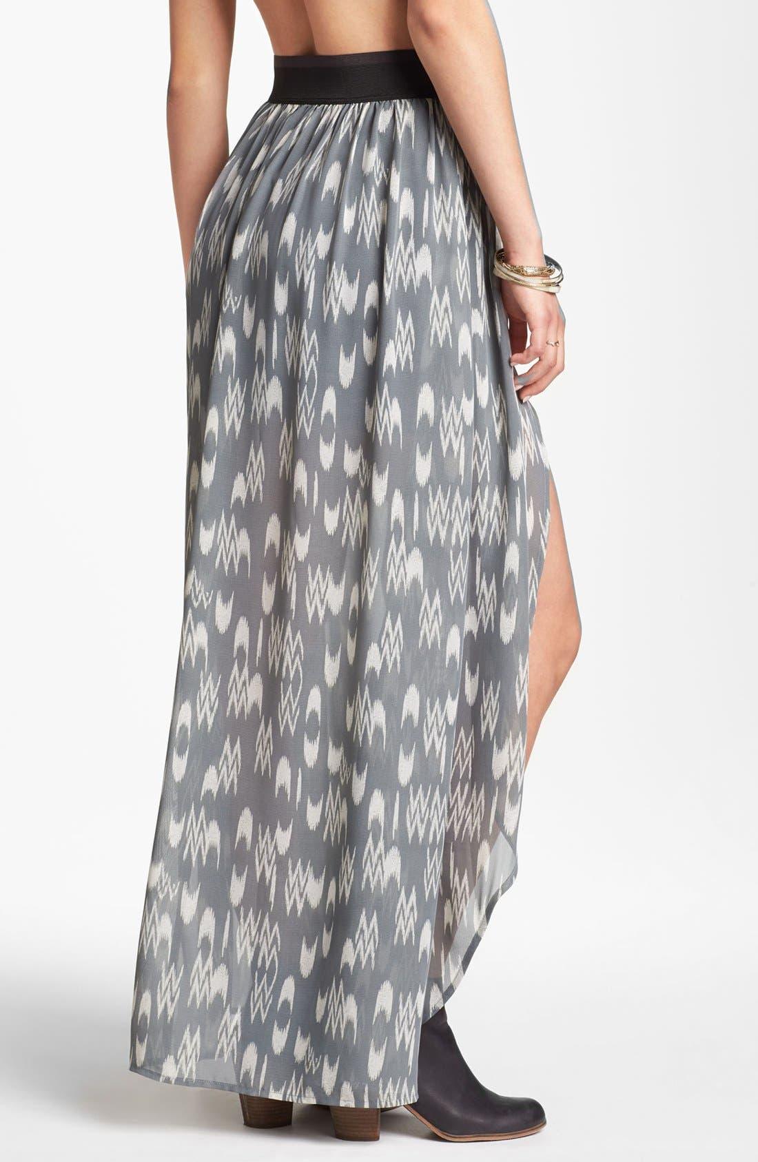 Alternate Image 2  - Mimi Chica Chiffon Overlay Maxi Skirt (Juniors)