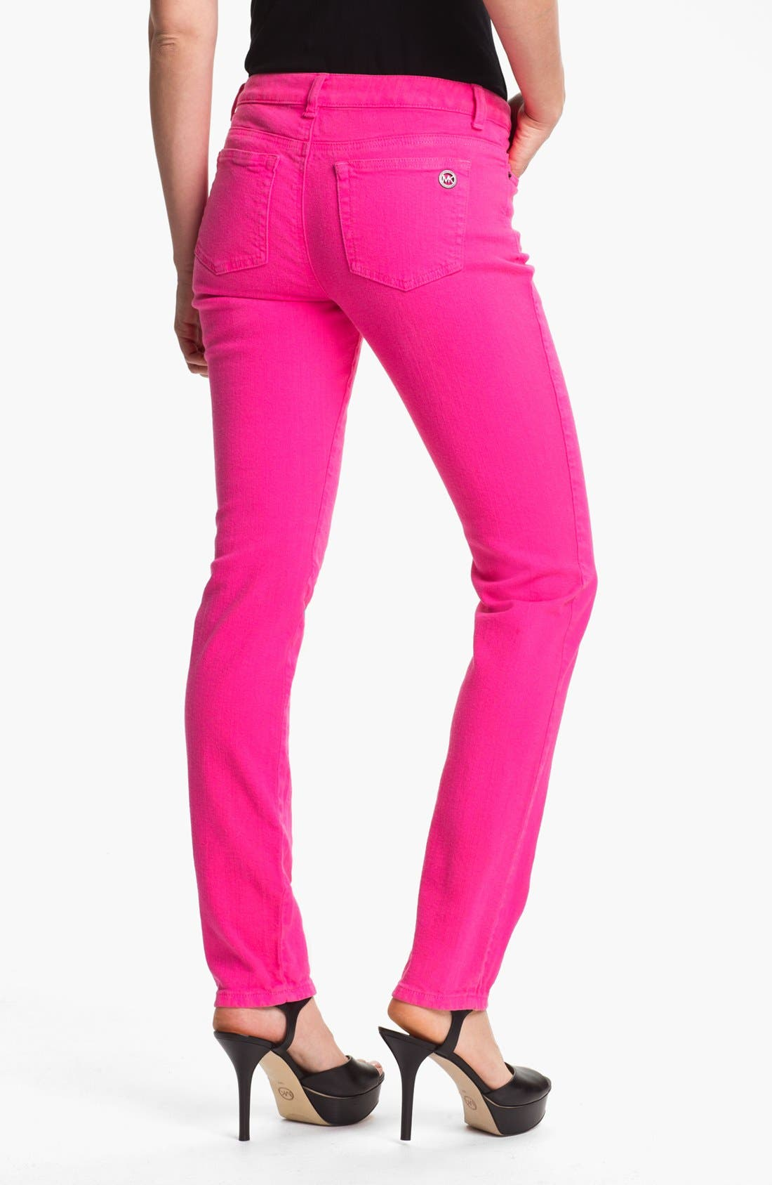 Alternate Image 2  - MICHAEL Michael Kors Color Skinny Jeans