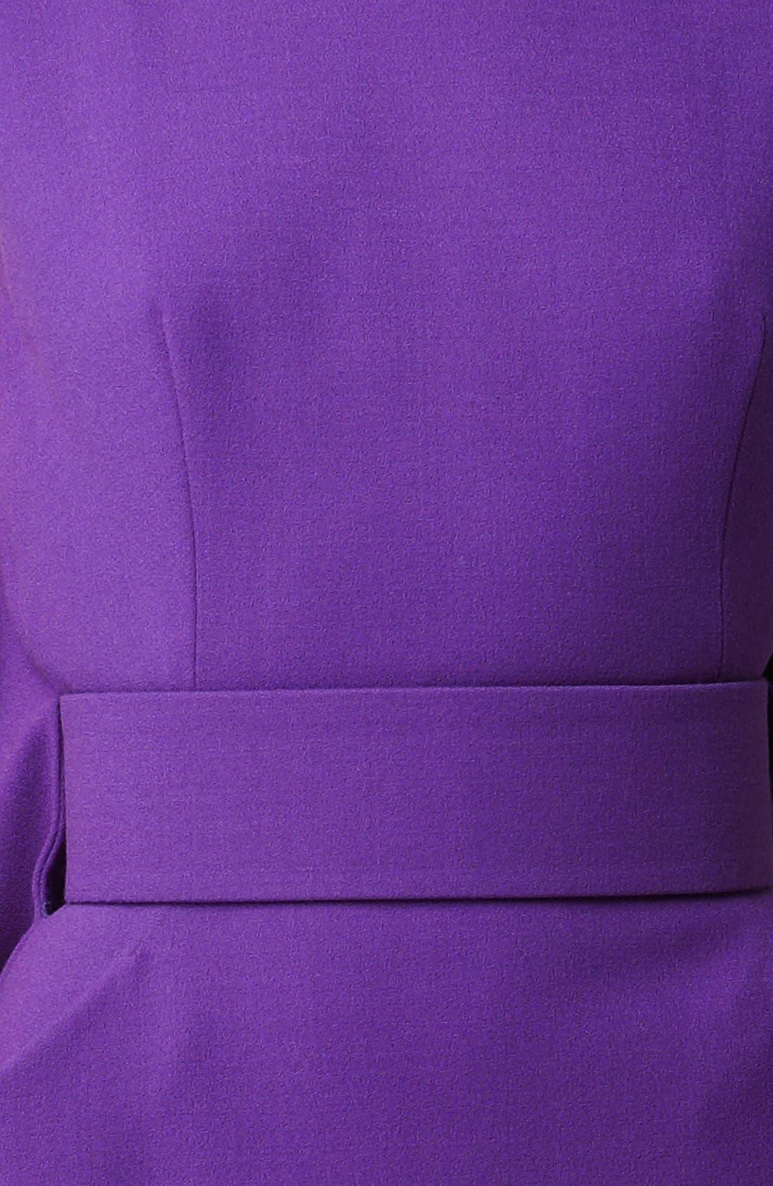 Alternate Image 3  - Alexander McQueen Cape Back Wool Crepe Dress