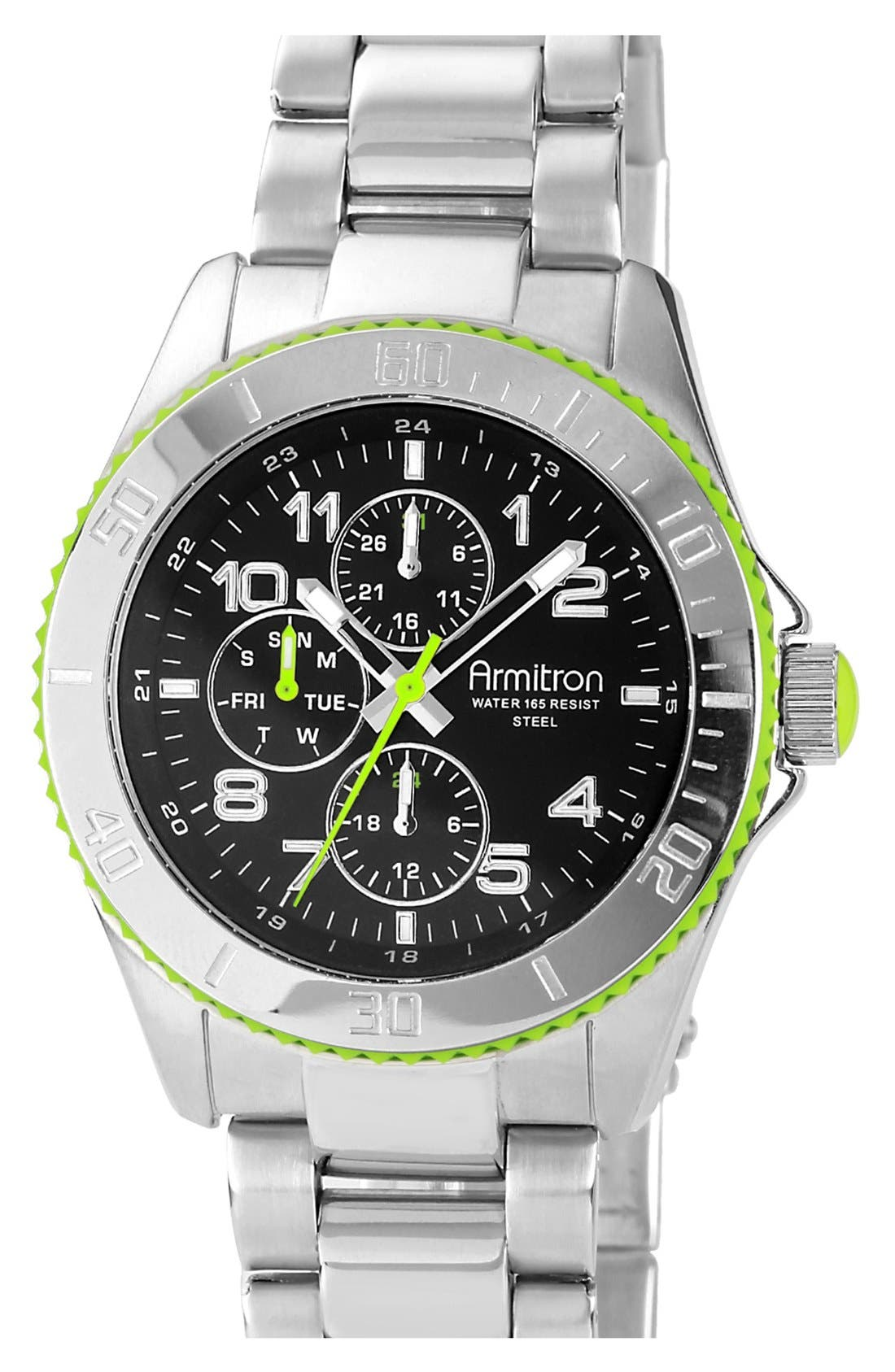 Alternate Image 1 Selected - Armitron Round Multifunction Bracelet Watch, 43mm