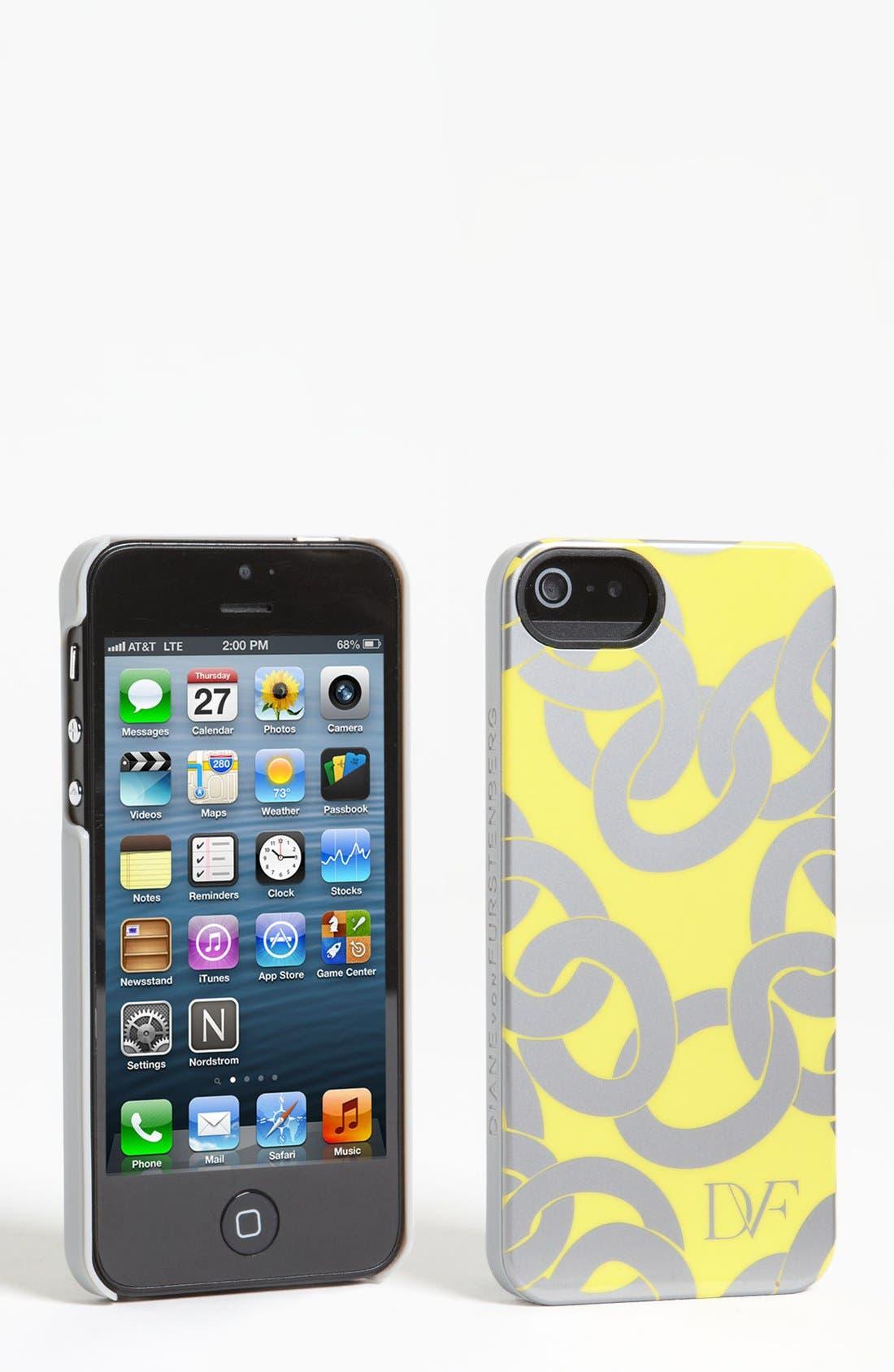Alternate Image 1 Selected - Diane von Furstenberg 'Metallic Chains' iPhone 5 Case