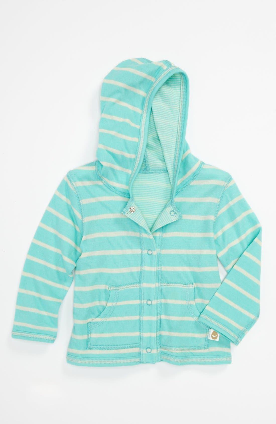 Main Image - Stem Baby Summer Organic Cotton Reversible Hoodie (Baby)