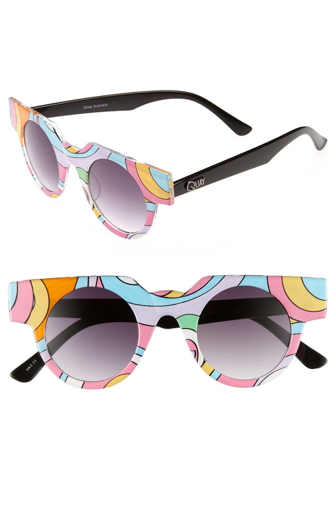 Main Image - Quay Retro Sunglasses (Online Only)