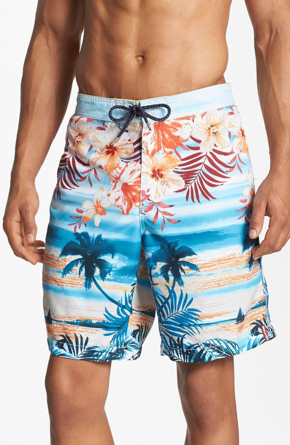 Main Image - Tommy Bahama 'Waypoint to Paradise' Swim Trunks