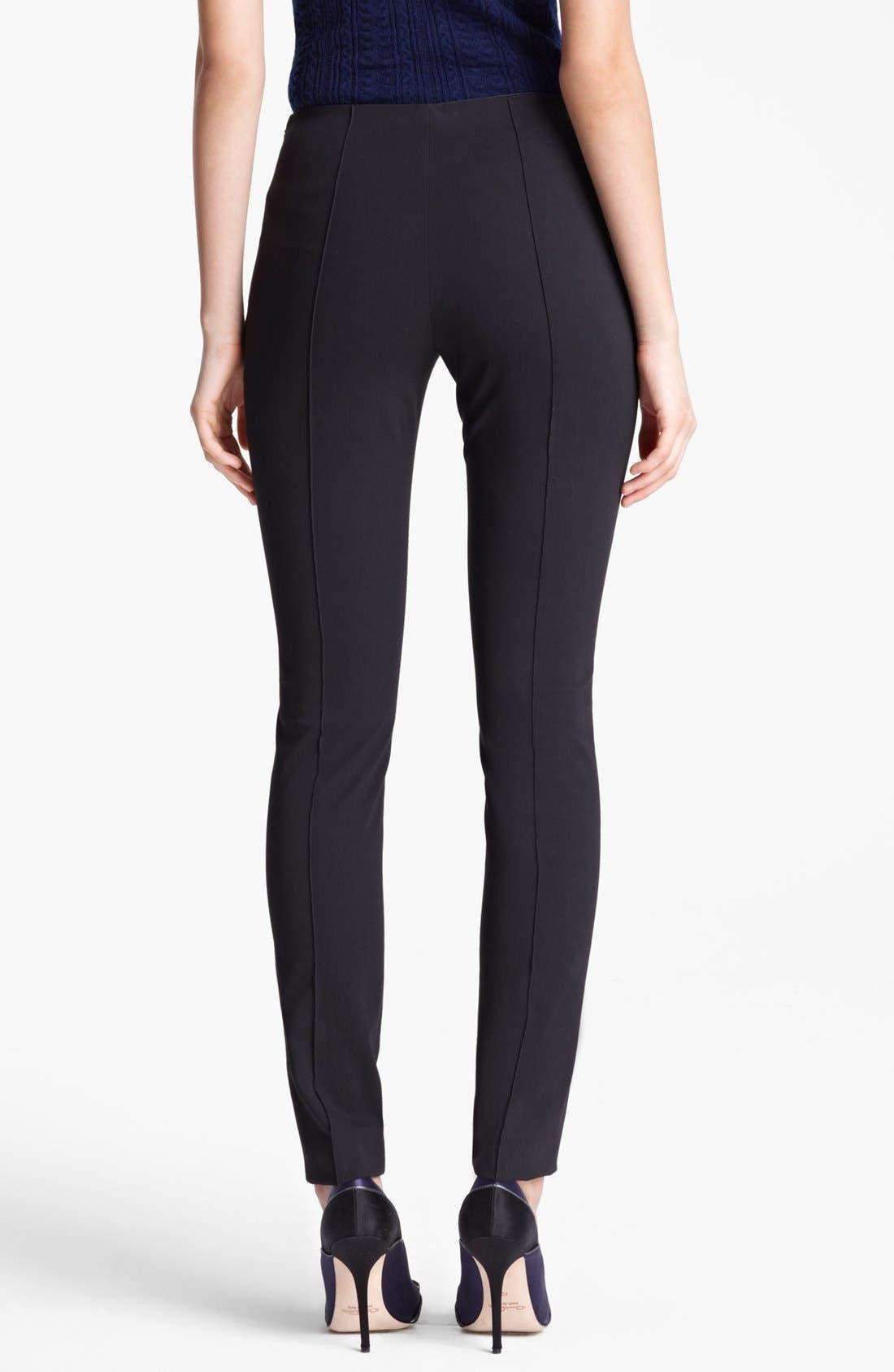 Alternate Image 2  - Oscar de la Renta High Waist Slim Pants
