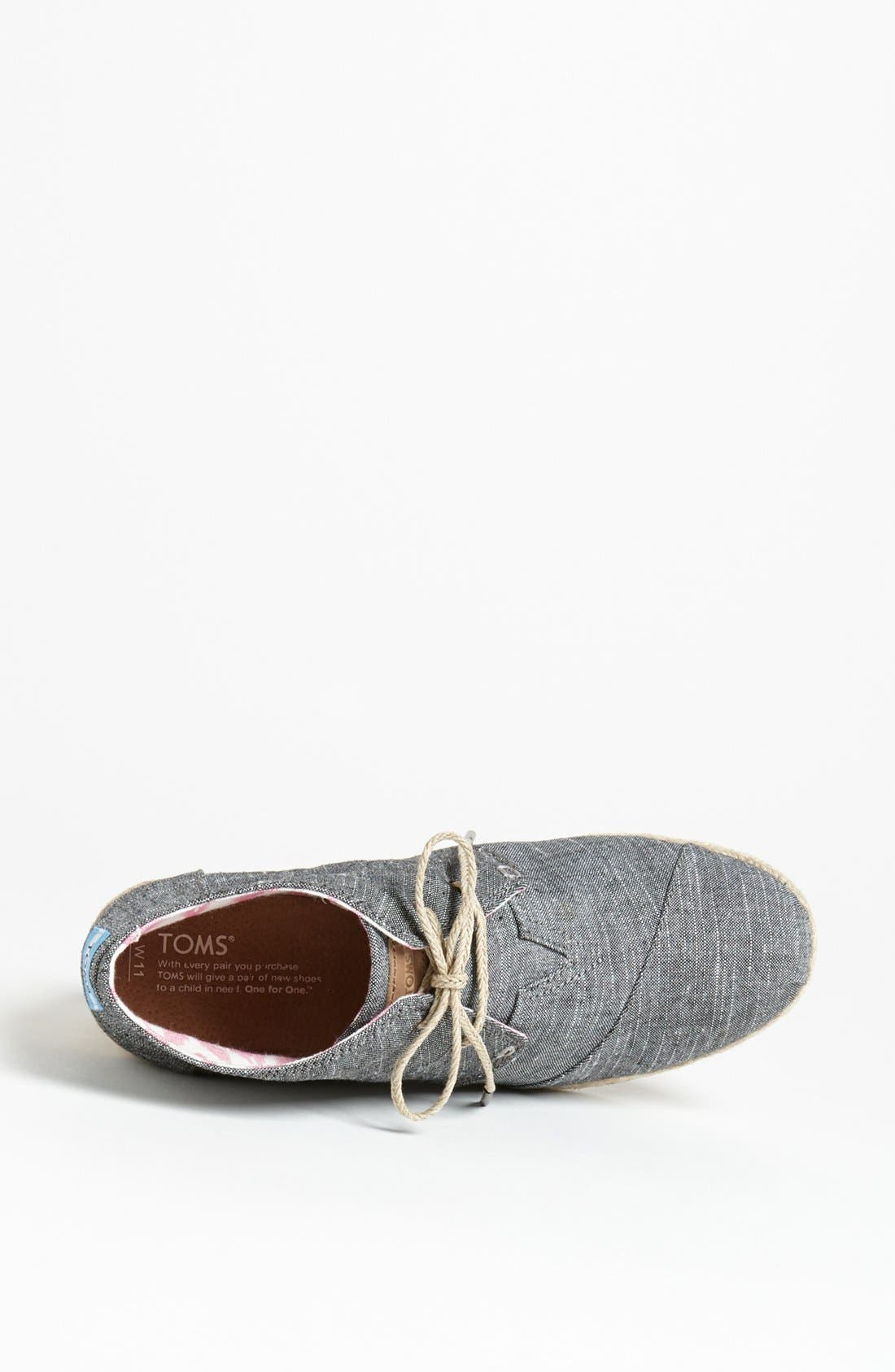 Alternate Image 3  - TOMS 'Desert' Chambray Wedge Bootie