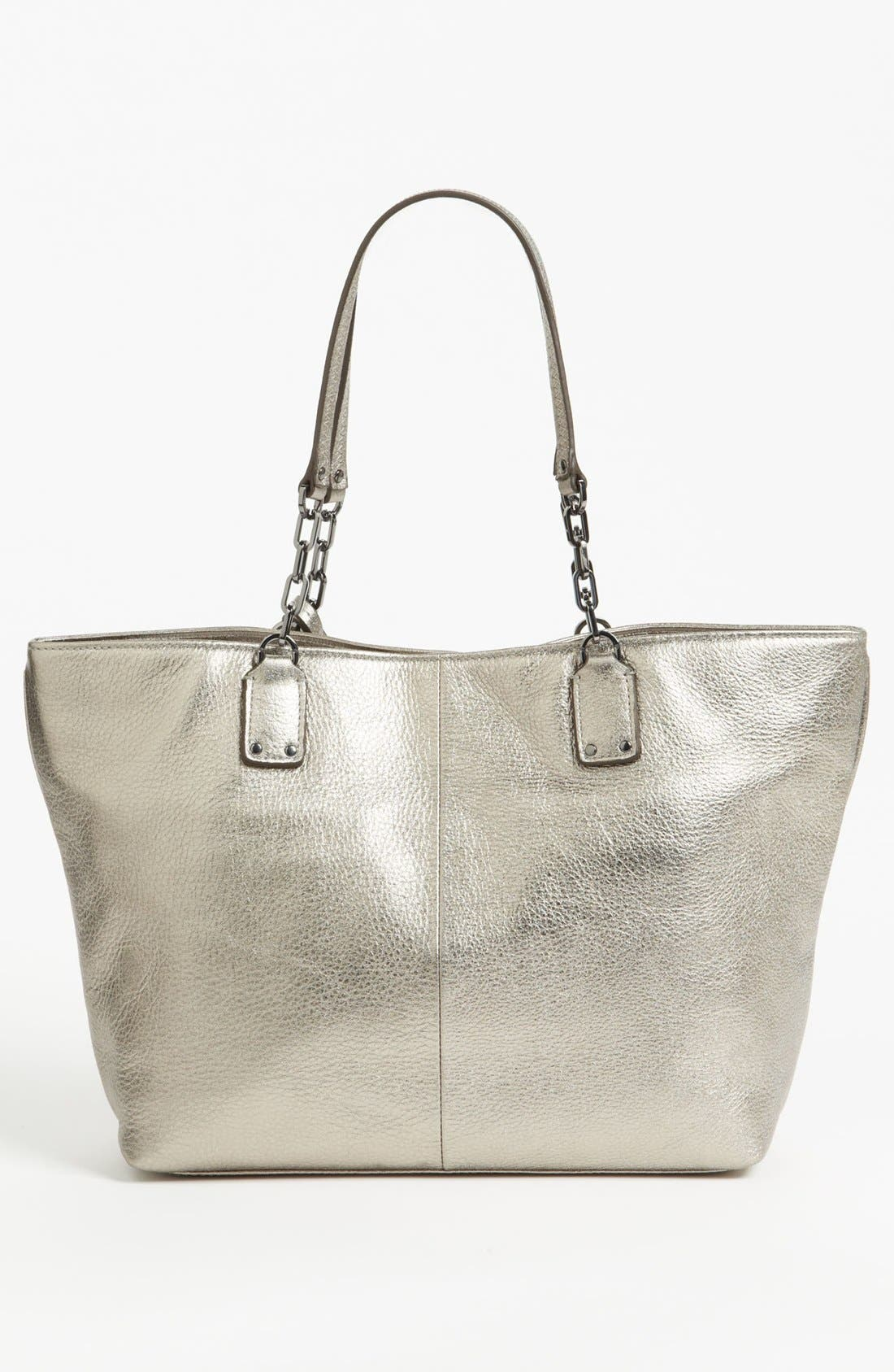 Alternate Image 4  - Tory Burch 'Thea Metallic - Small' Leather Tote