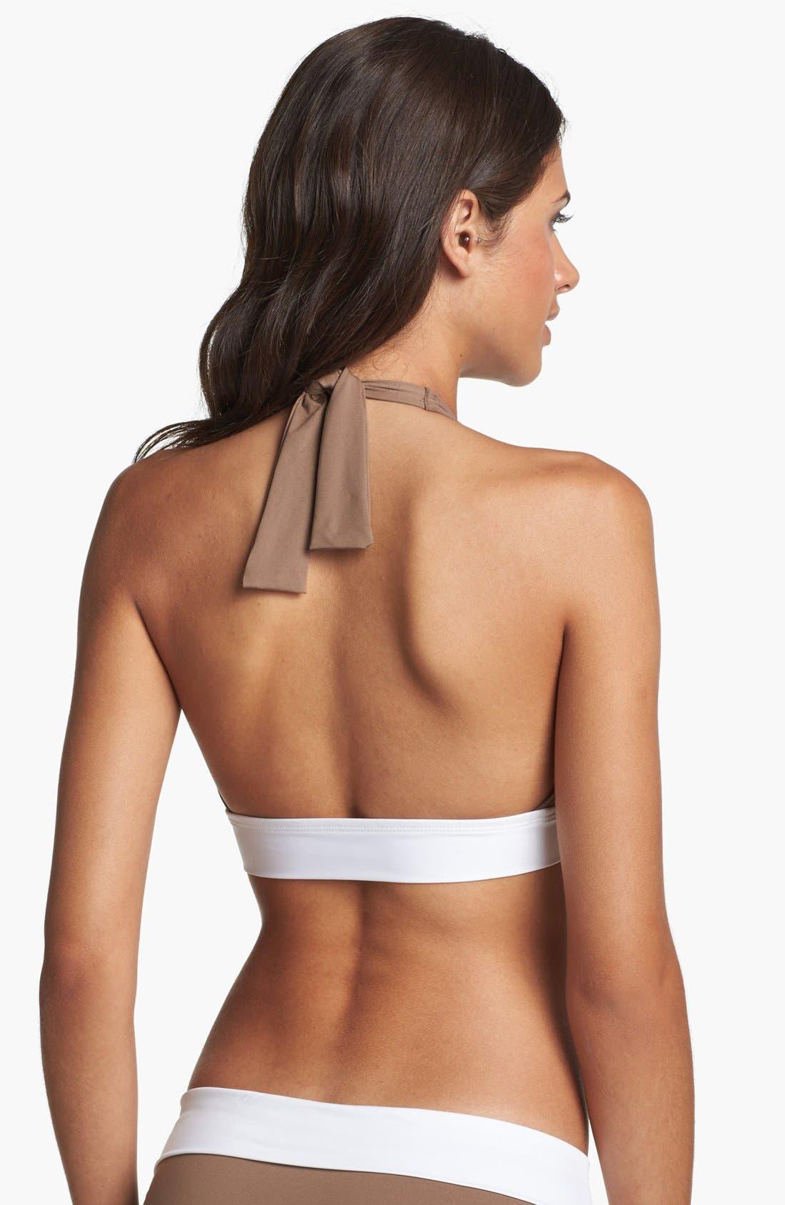 Alternate Image 2  - Tommy Bahama 'Deck Piping' Halter Bikini Top