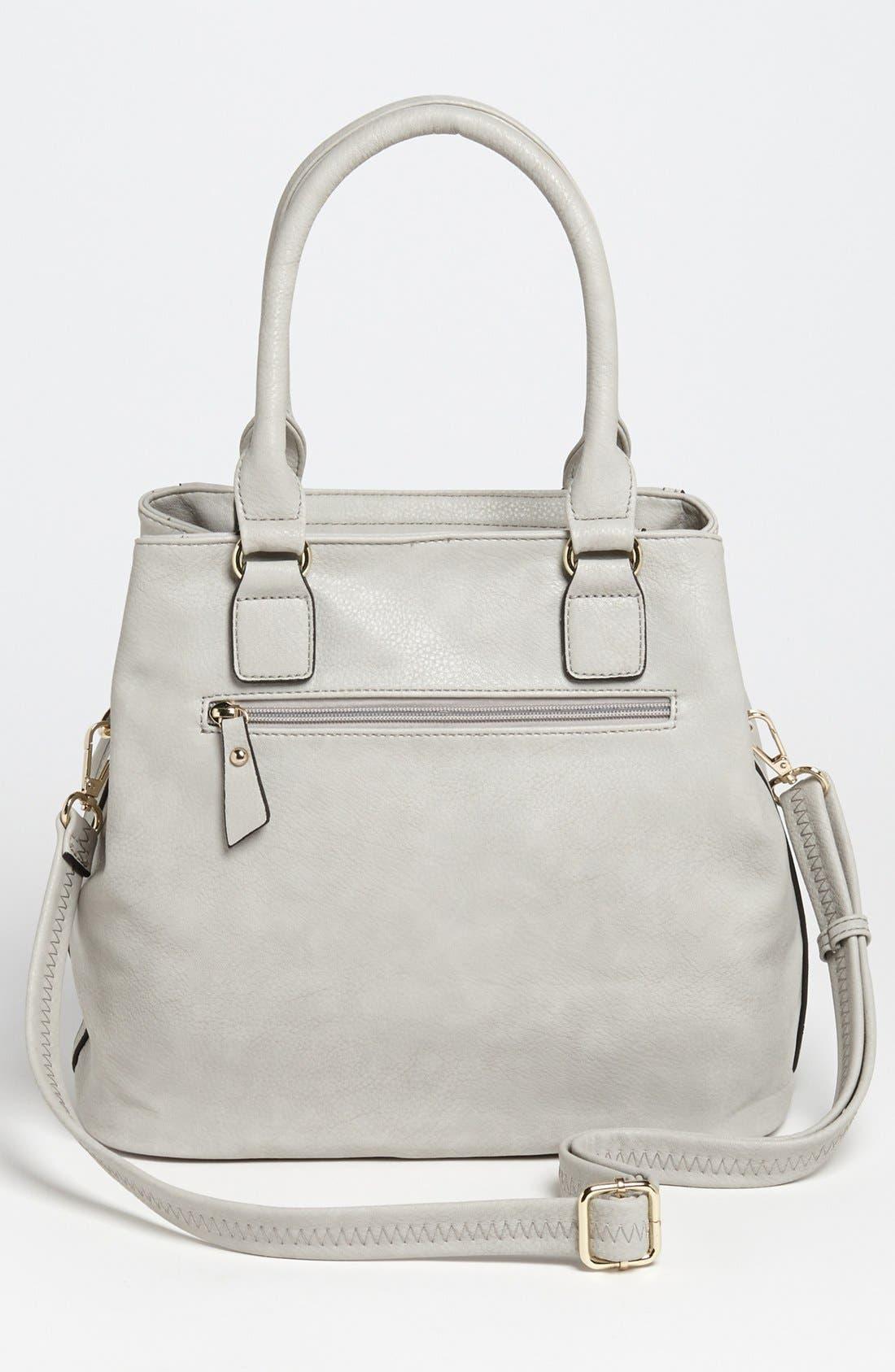 Alternate Image 4  - Emperia Zip Front Faux Leather Shoulder Bag