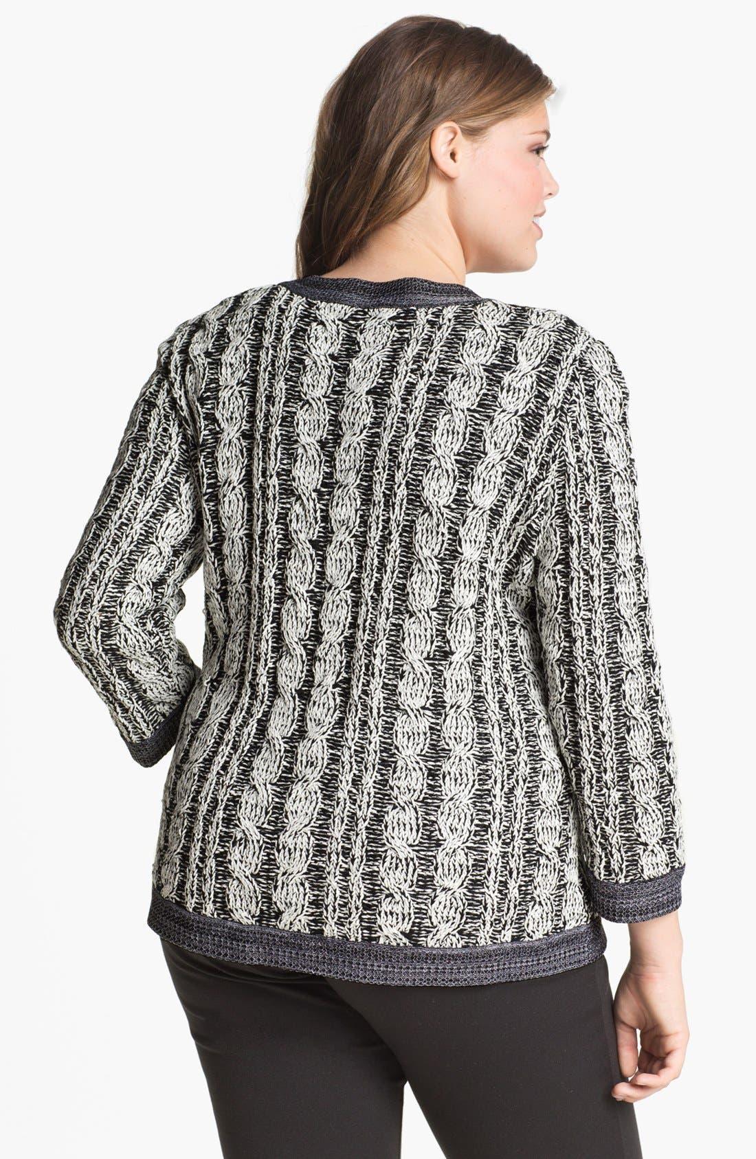 Alternate Image 2  - Exclusively Misook 'Rena' Sweater Jacket (Plus Size)