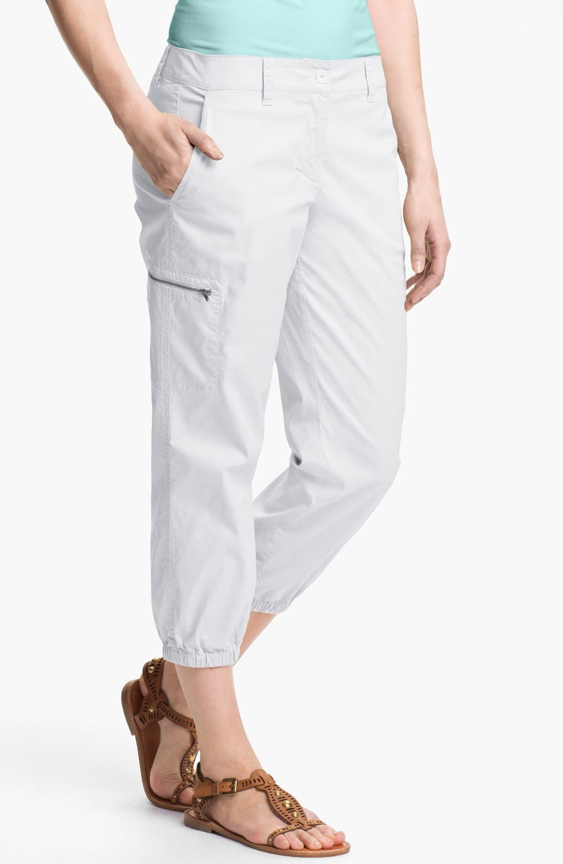 Alternate Image 1 Selected - Eileen Fisher Crop Cargo Pants (Petite)
