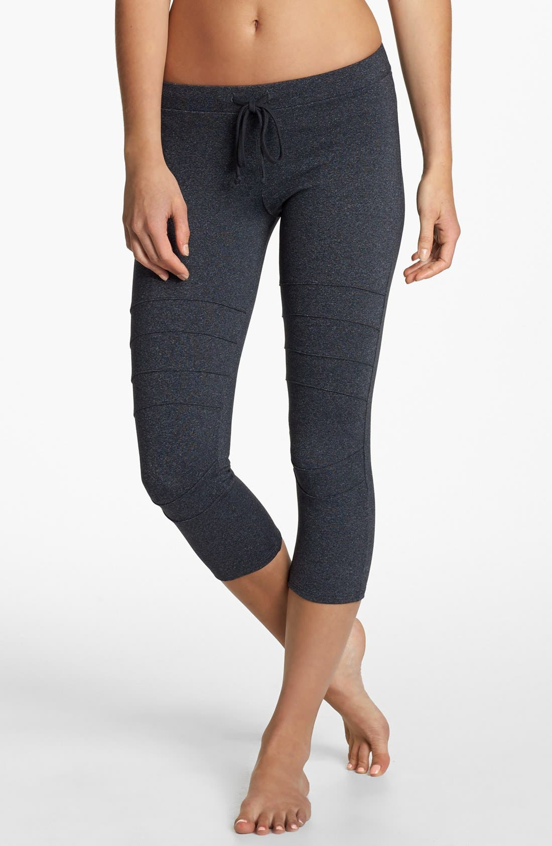 Alternate Image 1 Selected - Solow Moto Crop Drawcord Leggings