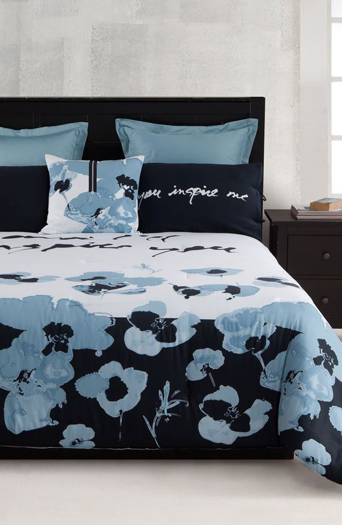 Alternate Image 2  - kensie 'Blue Poppy' Duvet Set (Online Only)