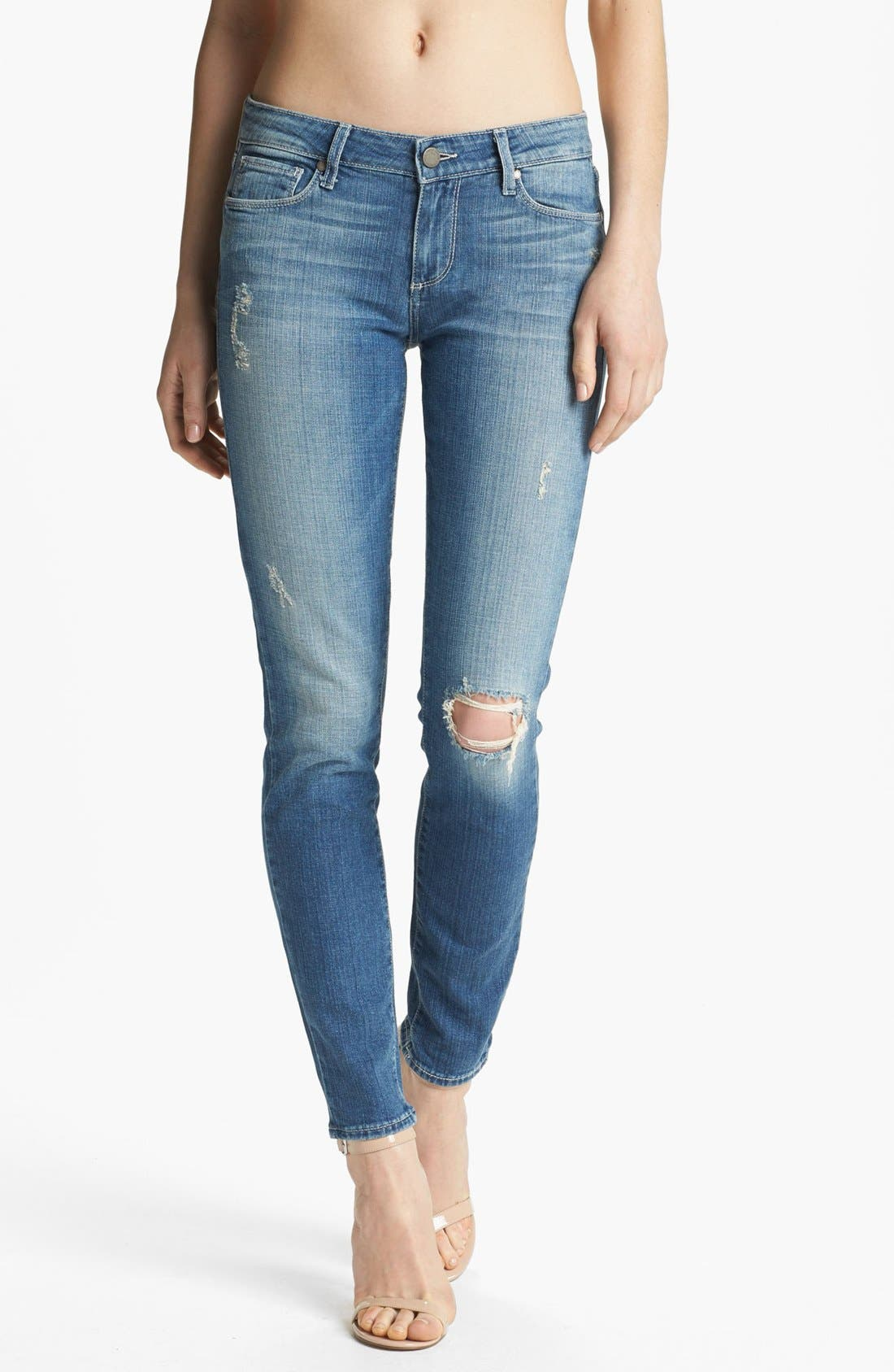 Main Image - Paige Denim 'Verdugo' Ultra Skinny Jeans (Lynn Destructed)