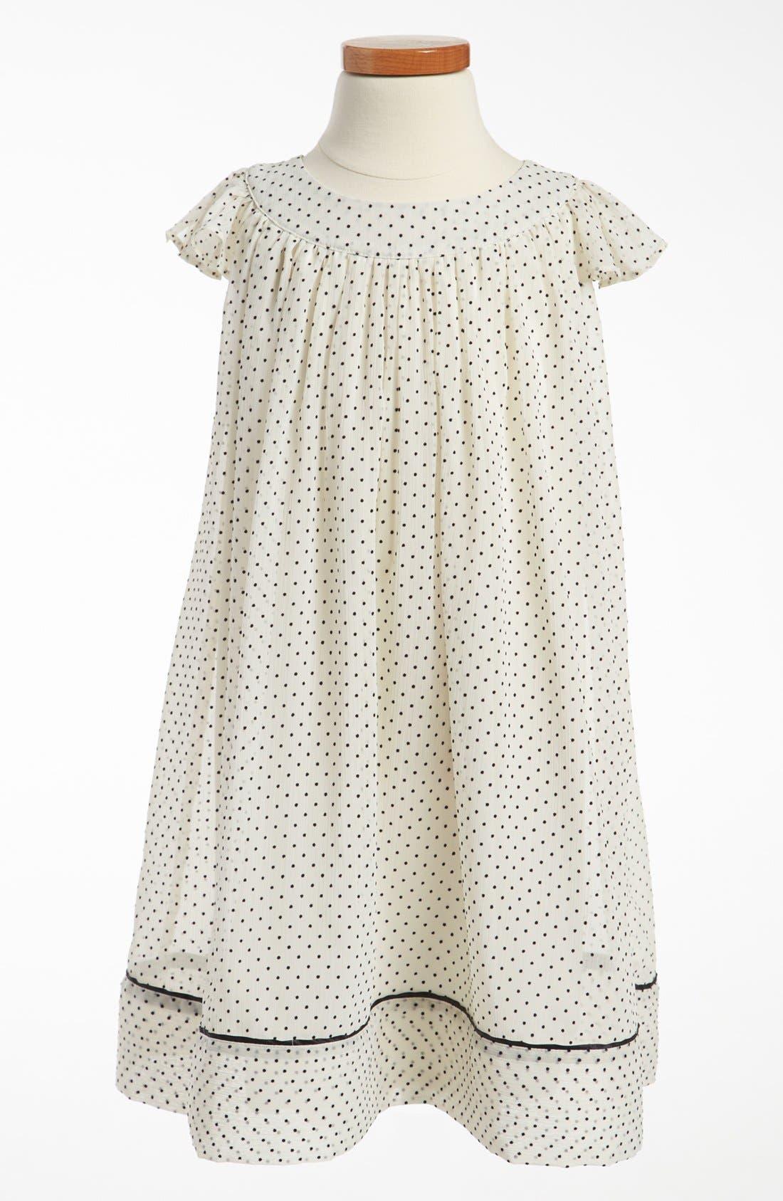 Alternate Image 1 Selected - Ruby & Bloom 'Irina' Flocked Dress (Little Girls)