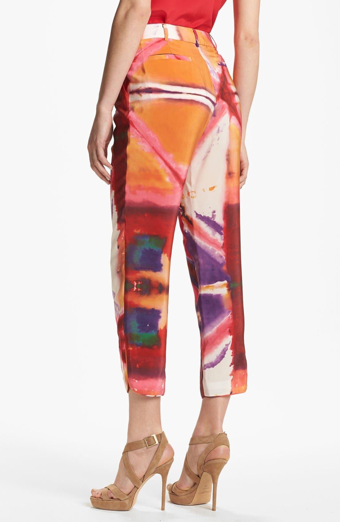 Alternate Image 2  - Rachel Roy 'Painted Illusion' Crop Silk Pants