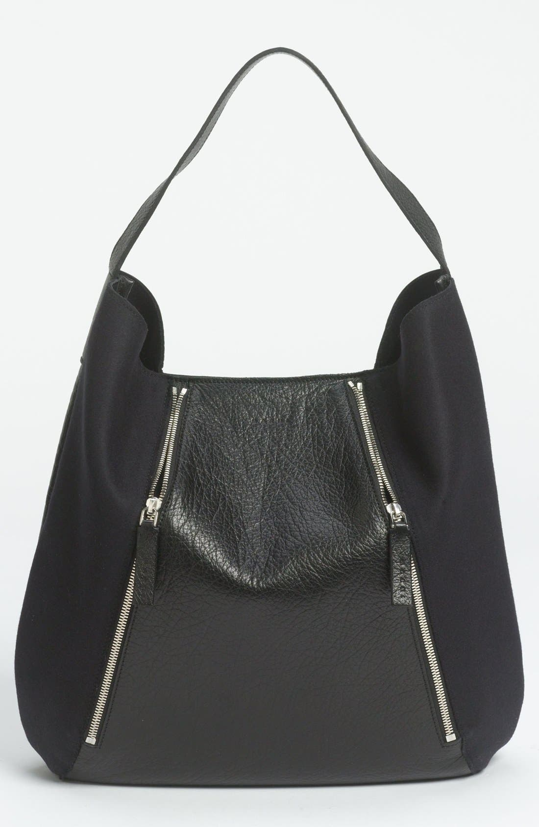 Alternate Image 1 Selected - Marni Bicolor Leather & Fabric Hobo