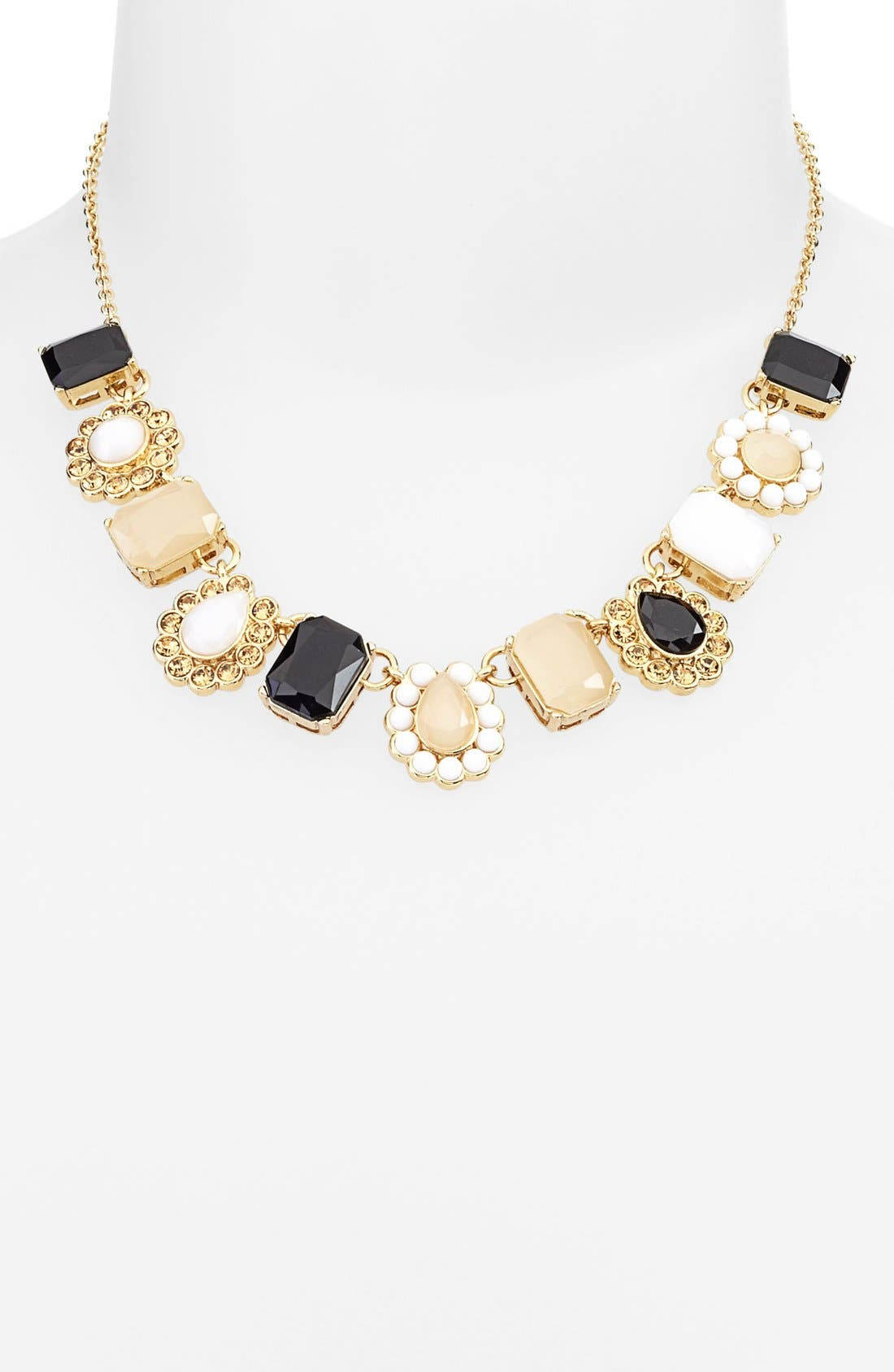 Main Image - kate spade new york 'run around' framed stone collar necklace