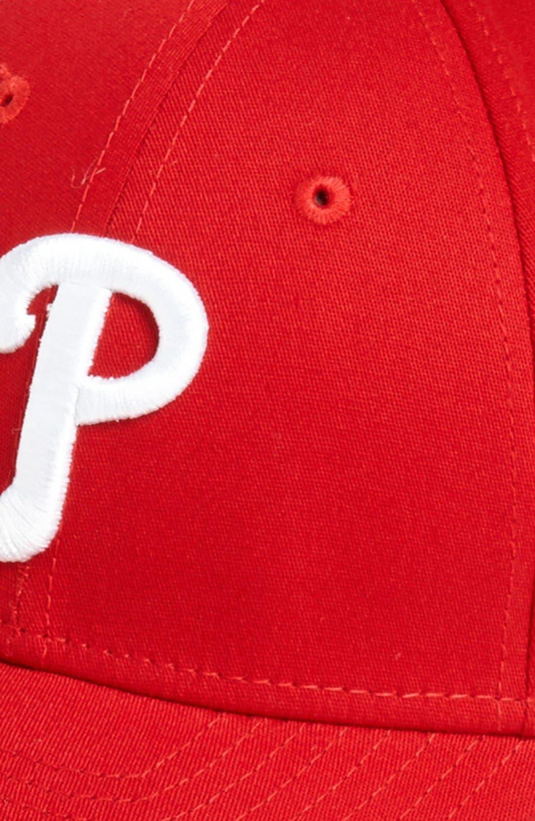 Alternate Image 2  - New Era Cap 'Philadelphia Phillies - Tie Breaker' Baseball Cap (Big Boys)