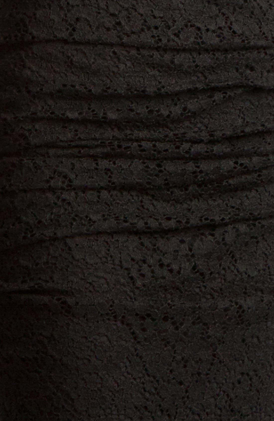 Alternate Image 3  - Dolce&Gabbana Ruched Stretch Lace Dress