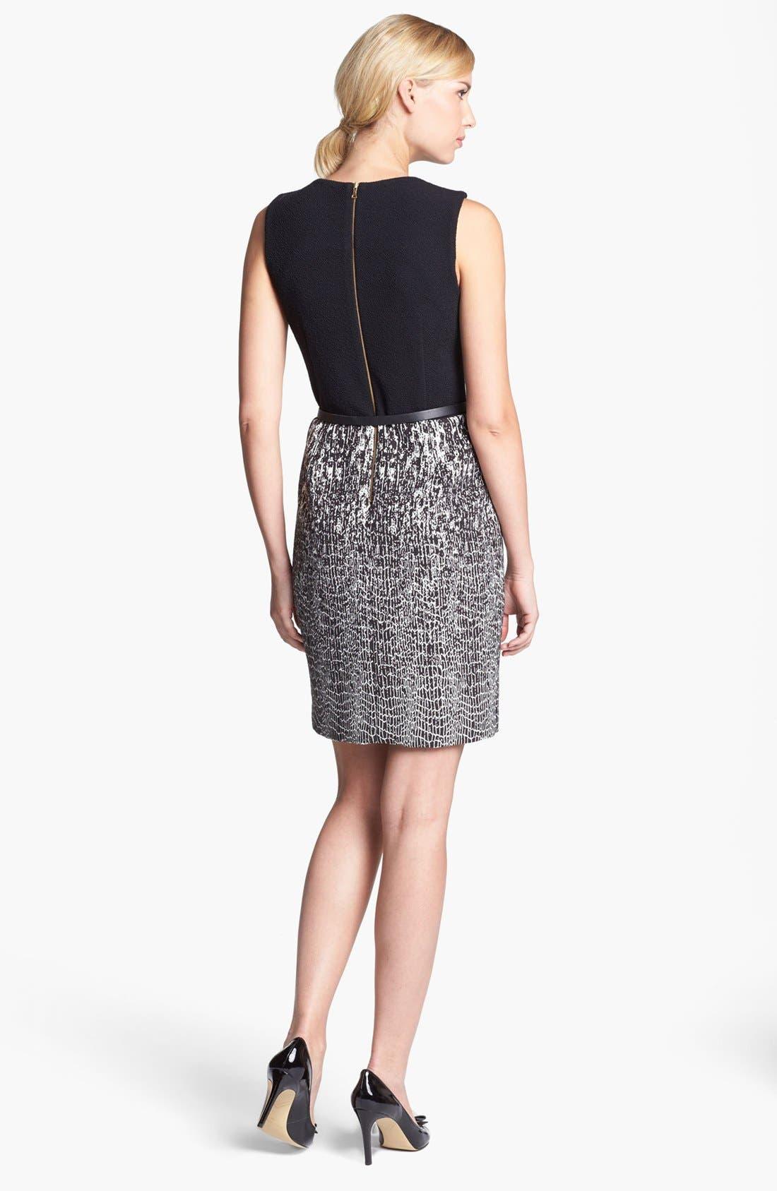 Alternate Image 2  - Taylor Dresses Jacquard Sleeveless Sheath Dress
