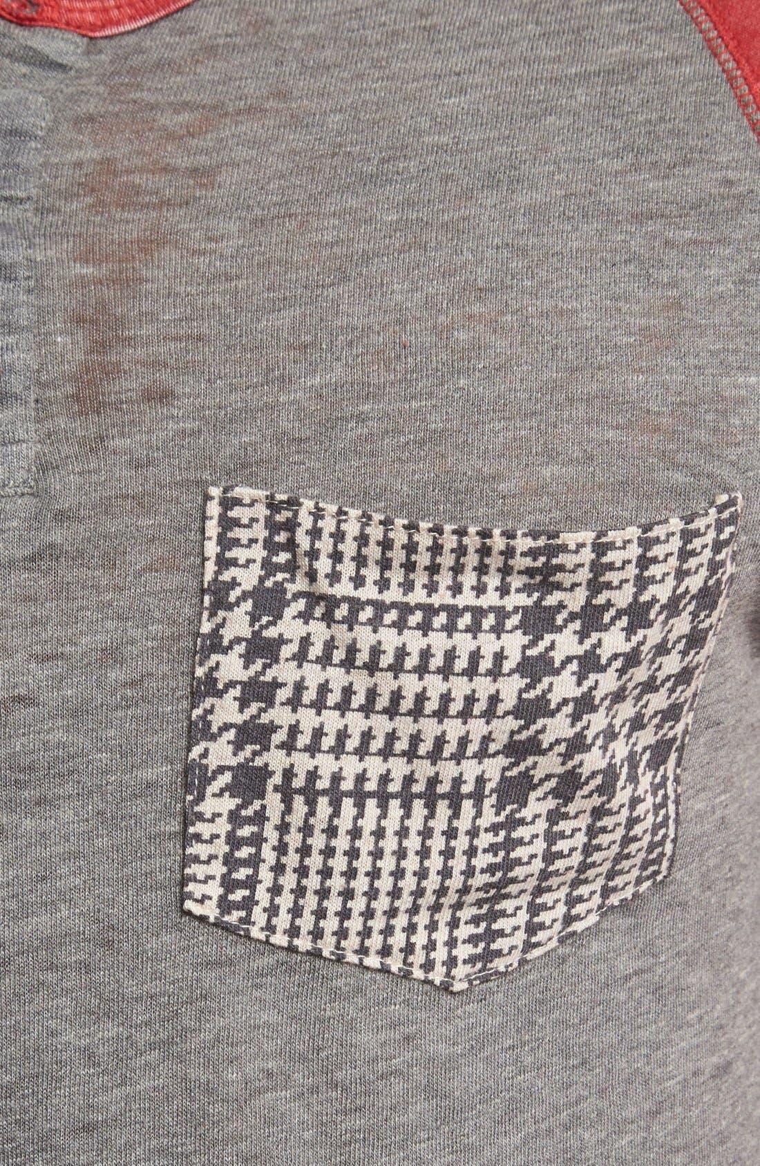 Alternate Image 3  - Alternative 'Burnout' Three Quarter Sleeve Henley
