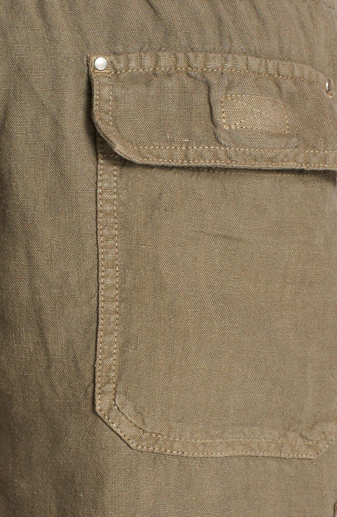 Alternate Image 3  - Vilebrequin Linen Cargo Bermuda Shorts