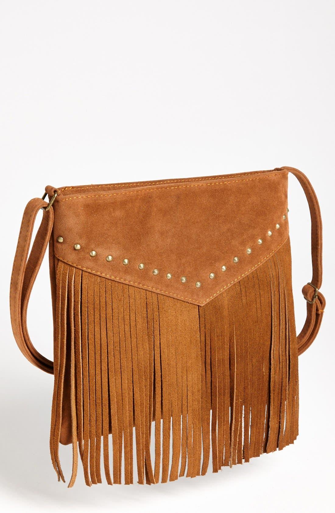 Alternate Image 1 Selected - BP. Studded Fringe Crossbody Bag