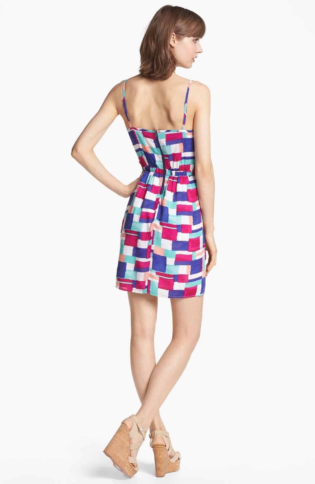Alternate Image 2  - Splendid 'Painted Patchwork' Print Dress