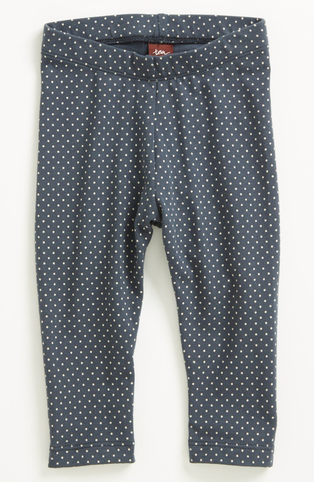 Alternate Image 1 Selected - Tea Collection Polka Dot Stretch Leggings (Baby Girls)