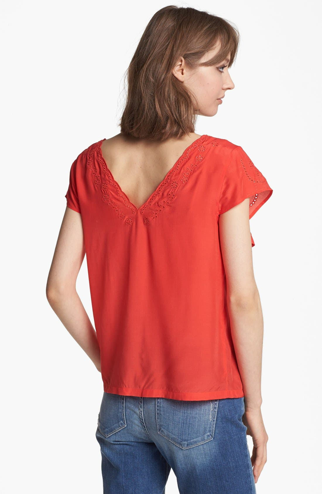 Alternate Image 2  - Hinge® Ruffle Embroidered Top