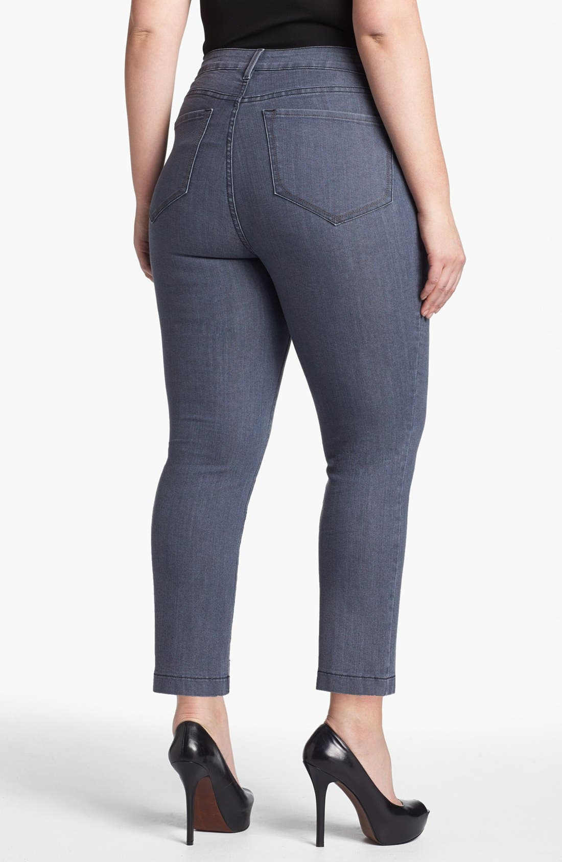 Alternate Image 2  - NYDJ 'Audrey' Skinny Ankle Jeans (Plus Size)