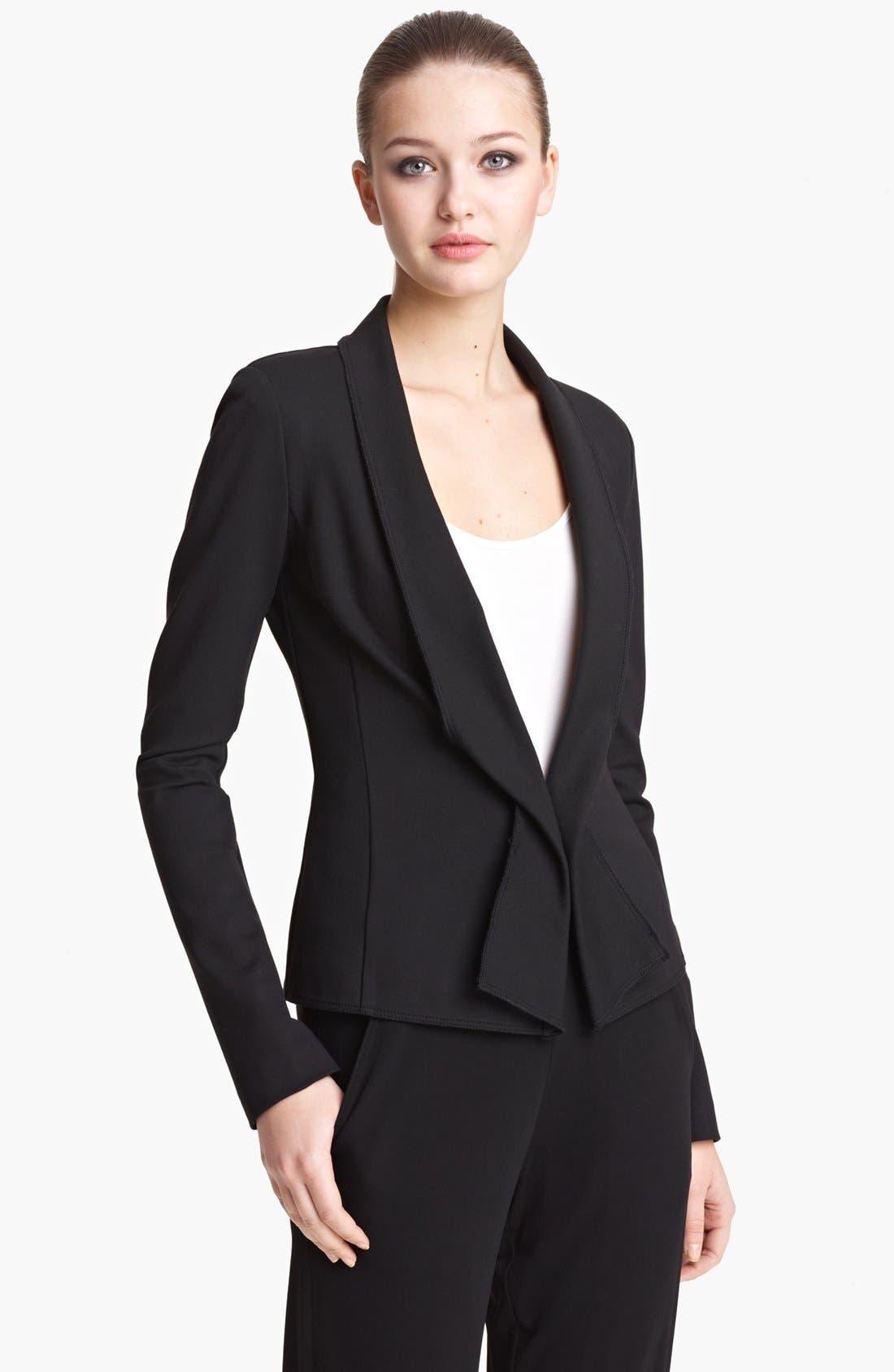 Alternate Image 1 Selected - Donna Karan Collection Structured Jersey Jacket