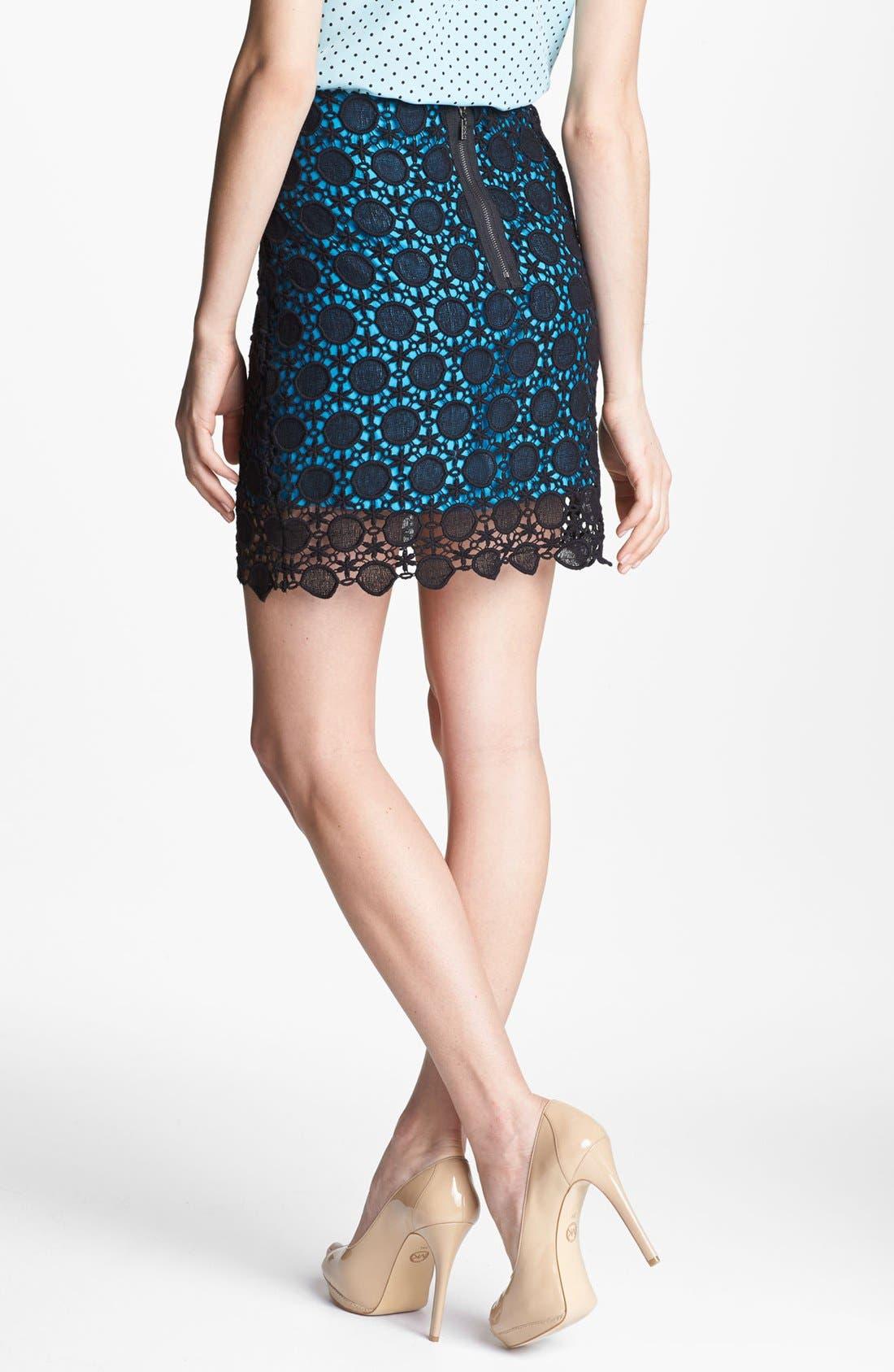 Alternate Image 2  - Kensie Contrast Lace Skirt