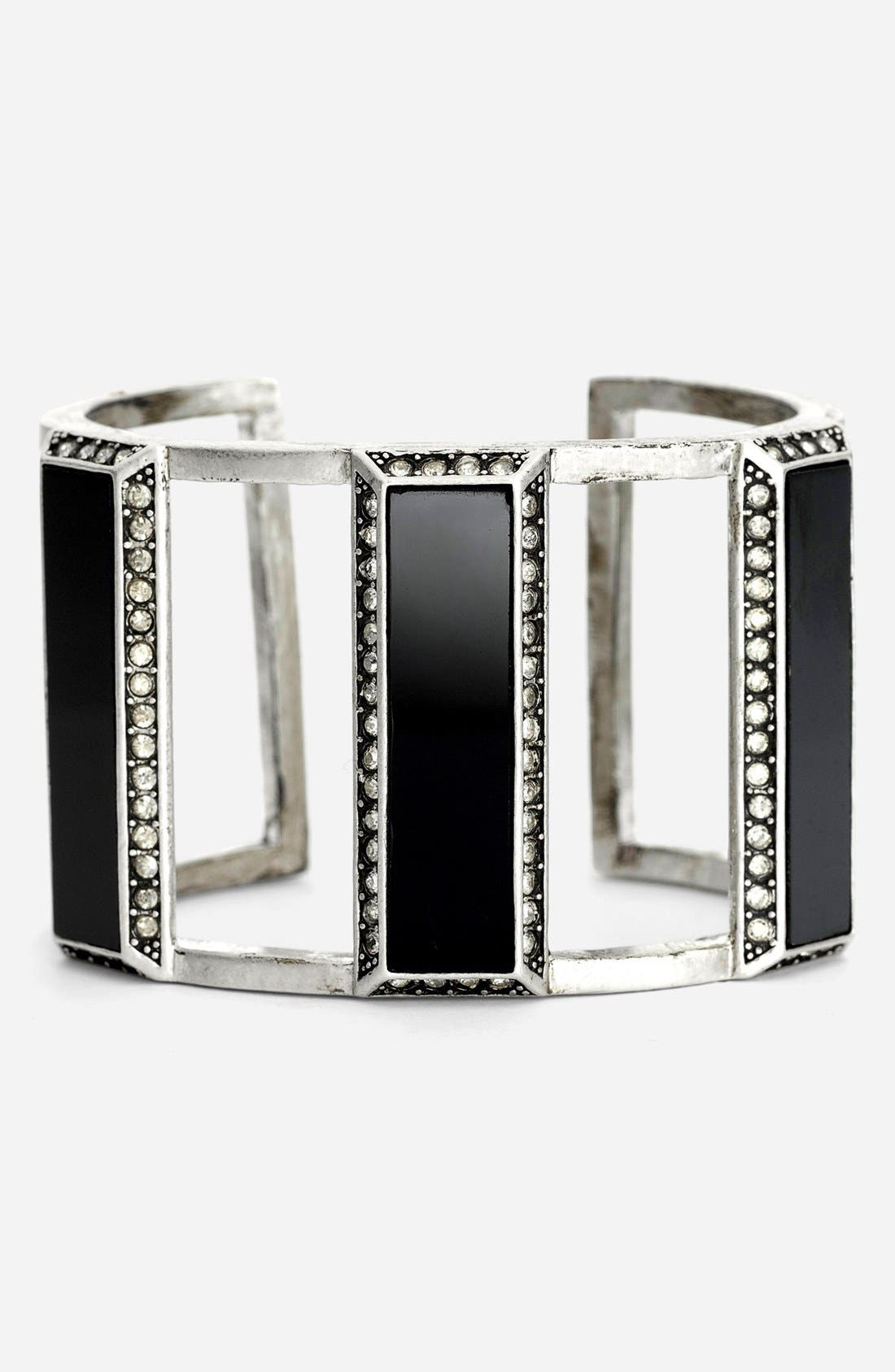 Alternate Image 1 Selected - St. John Collection Glass & Crystal Cuff